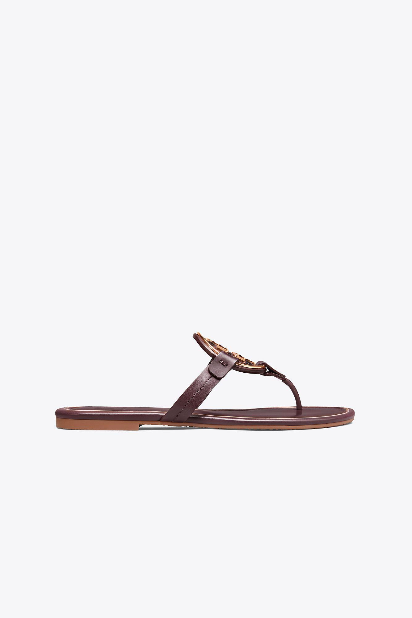 38b4cf9ac31a9e Tory Burch. Women s Miller Metal-logo Sandal ...