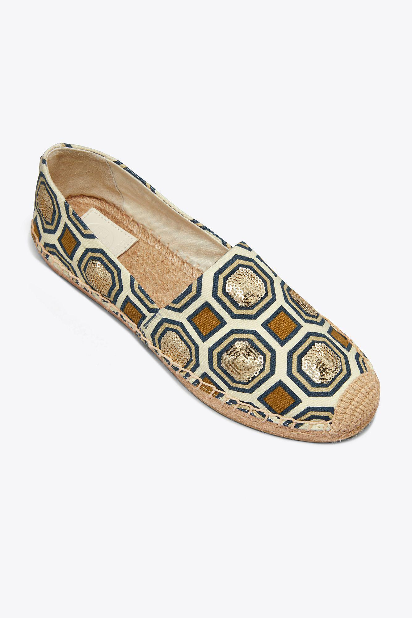 5ee6eff020a Tory Burch Cecily Sequin Embellished Espadrille (women) - Lyst