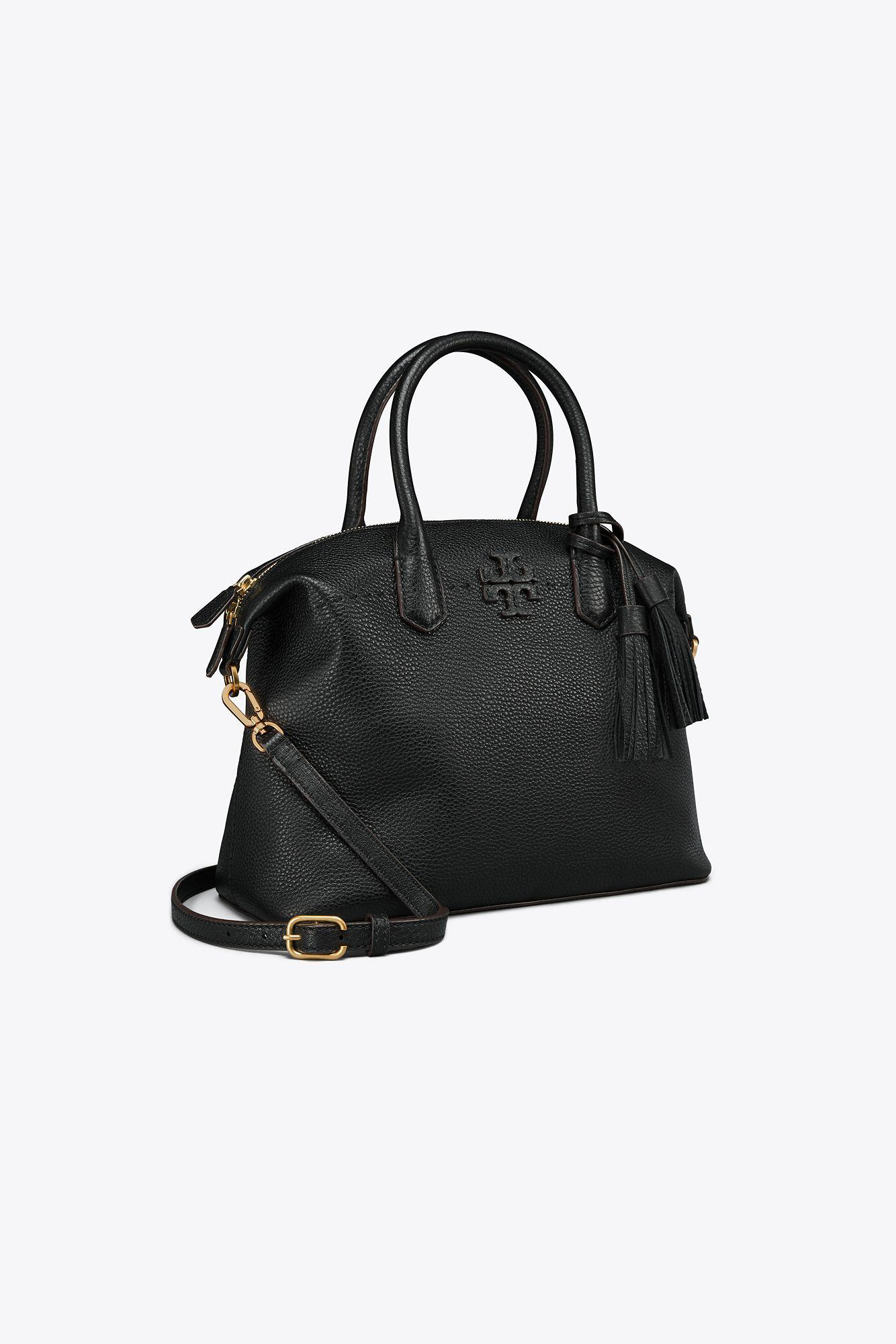 b8ae75e69498 Tory Burch Mcgraw Slouchy Leather Satchel - in Black - Save 19% - Lyst