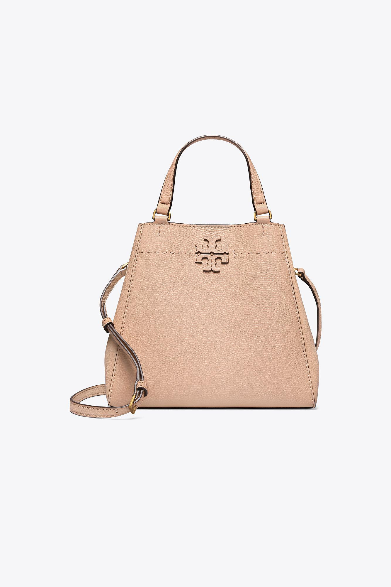 f45c5990ad45 Tory Burch Mcgraw Small Carryall in Natural - Lyst