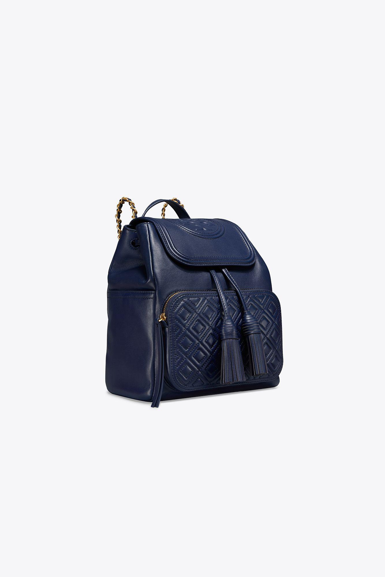 31ae7c1134d Tory Burch - Blue Fleming Backpack - Lyst. View fullscreen