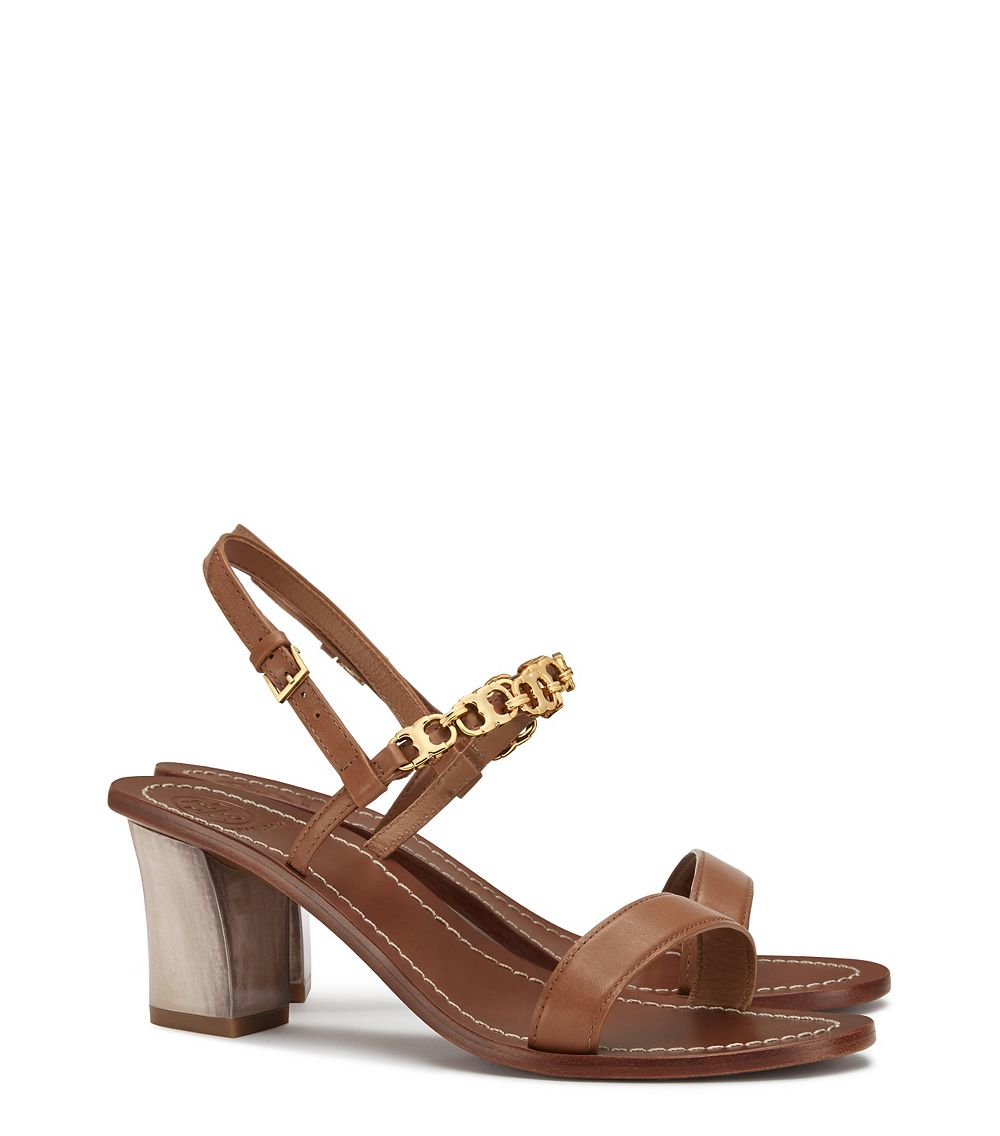 25cc15ea5f85 Lyst - Tory Burch Gemini Link Sandal in Brown