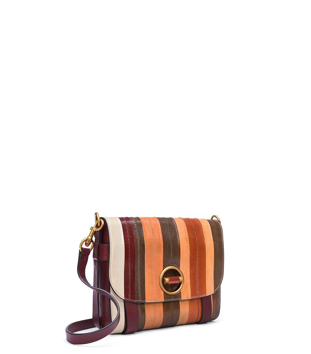 1950a9da02b3 Lyst - Tory Burch Alastair Eel Stripe Bag