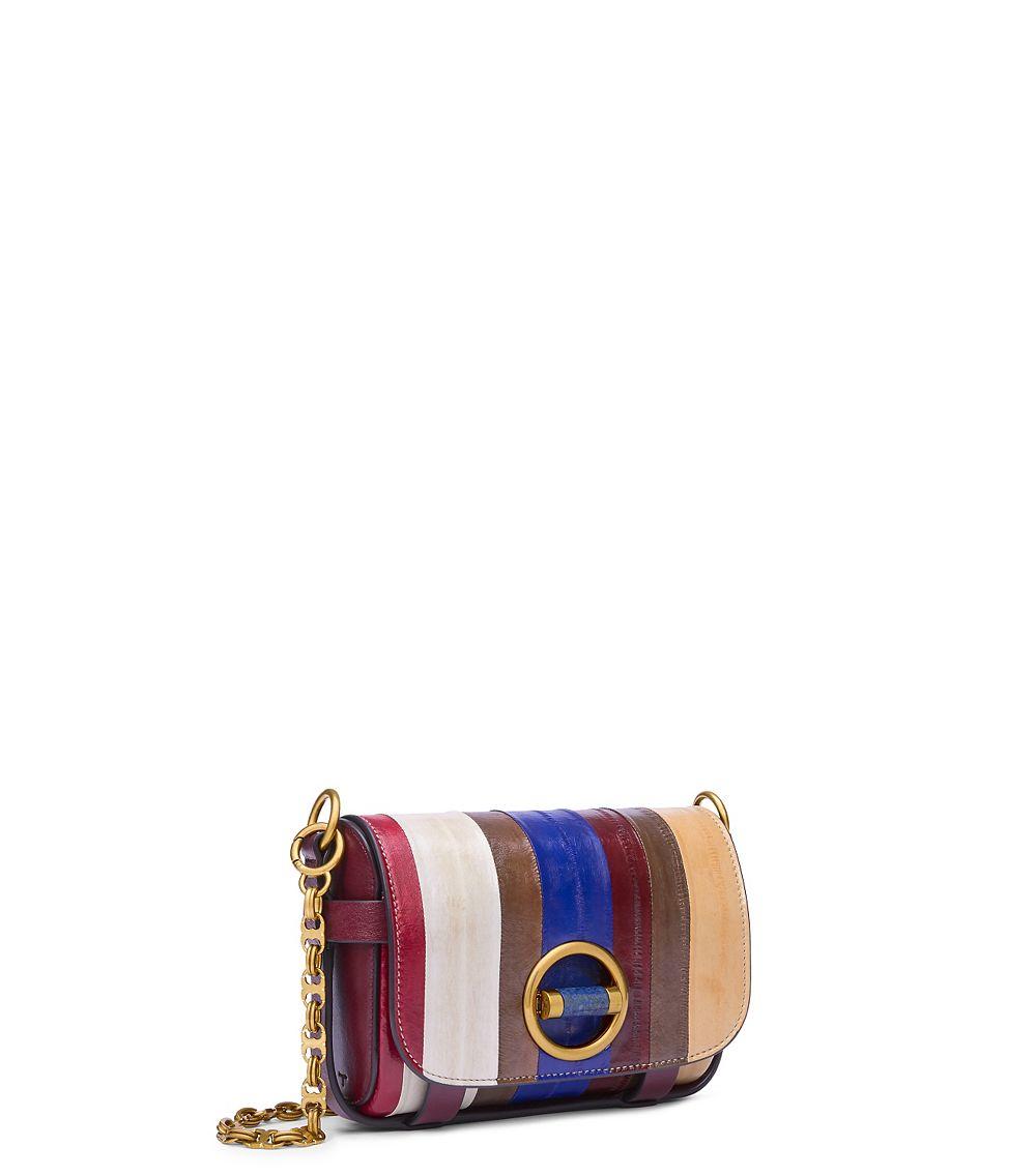 28e86bf266de Lyst - Tory Burch Alastair Eel Stripe Small Bag