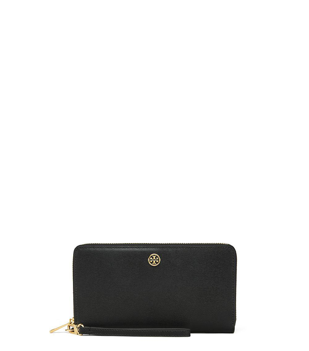 Tory Burch Parker Travel Zip Continental Wallet In Black Lyst