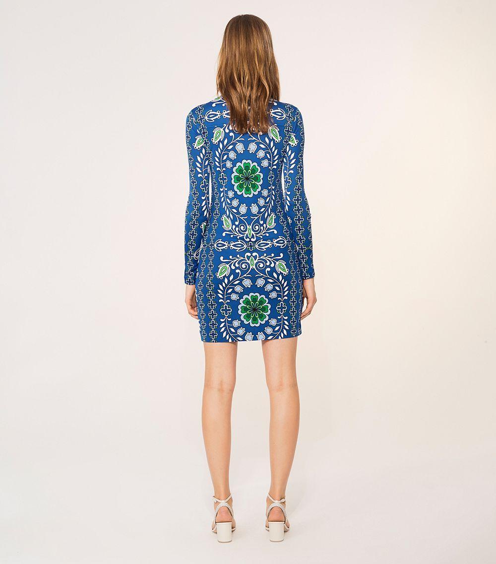 Lyst - Tory Burch Walker Dress in Blue