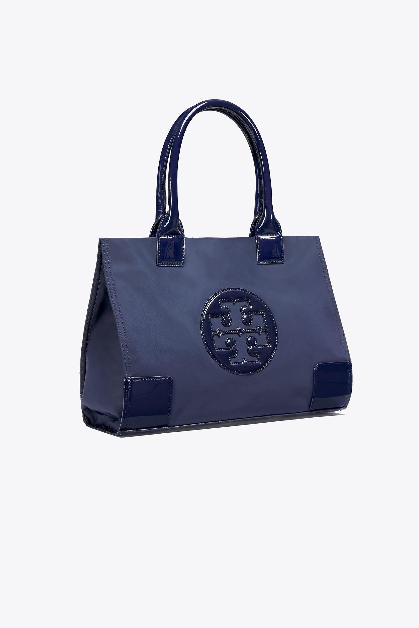 7d8fc41626a4 Lyst - Tory Burch Ella Patent Mini Tote in Blue
