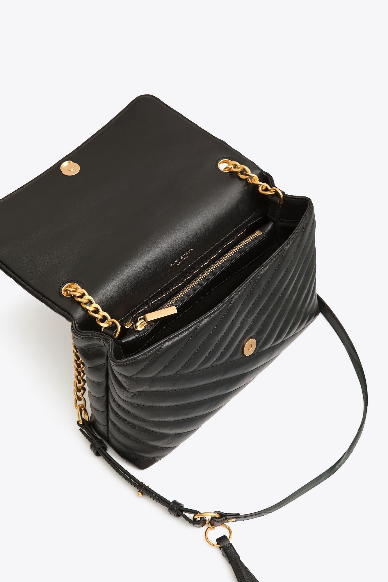 6b4ee62c7e80 Tory Burch Kira Chevron Flap Shoulder Bag in Black - Save 18% - Lyst