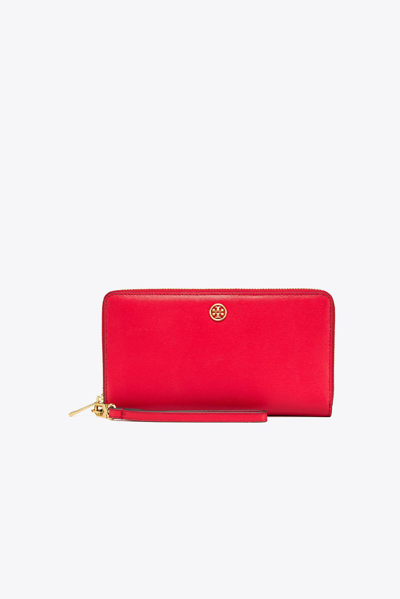 5a797d5637d1 Tory Burch Parker Travel Zip Continental Wallet - Lyst
