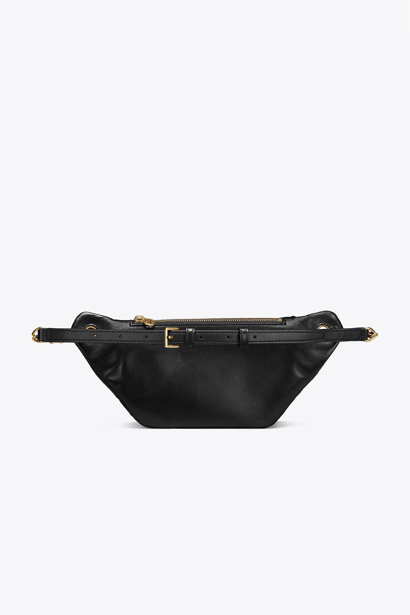 48b5a337bb00 Tory Burch - Black Fleming Belt Bag - Lyst. View fullscreen