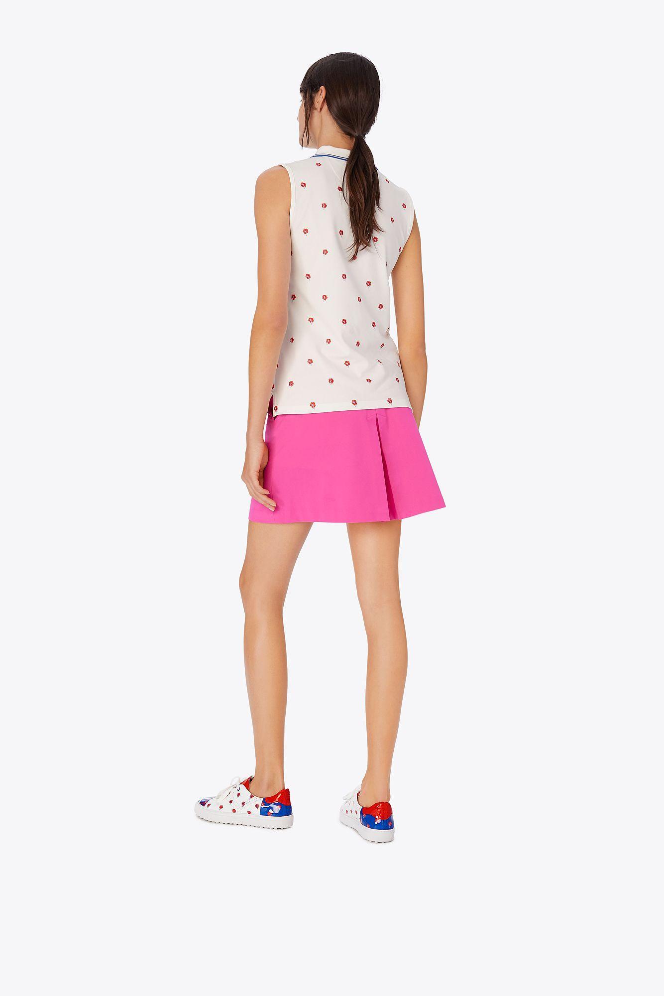3ffa83ec25 Tory Sport - Pink Tech Twill Golf Skirt - Lyst. View fullscreen