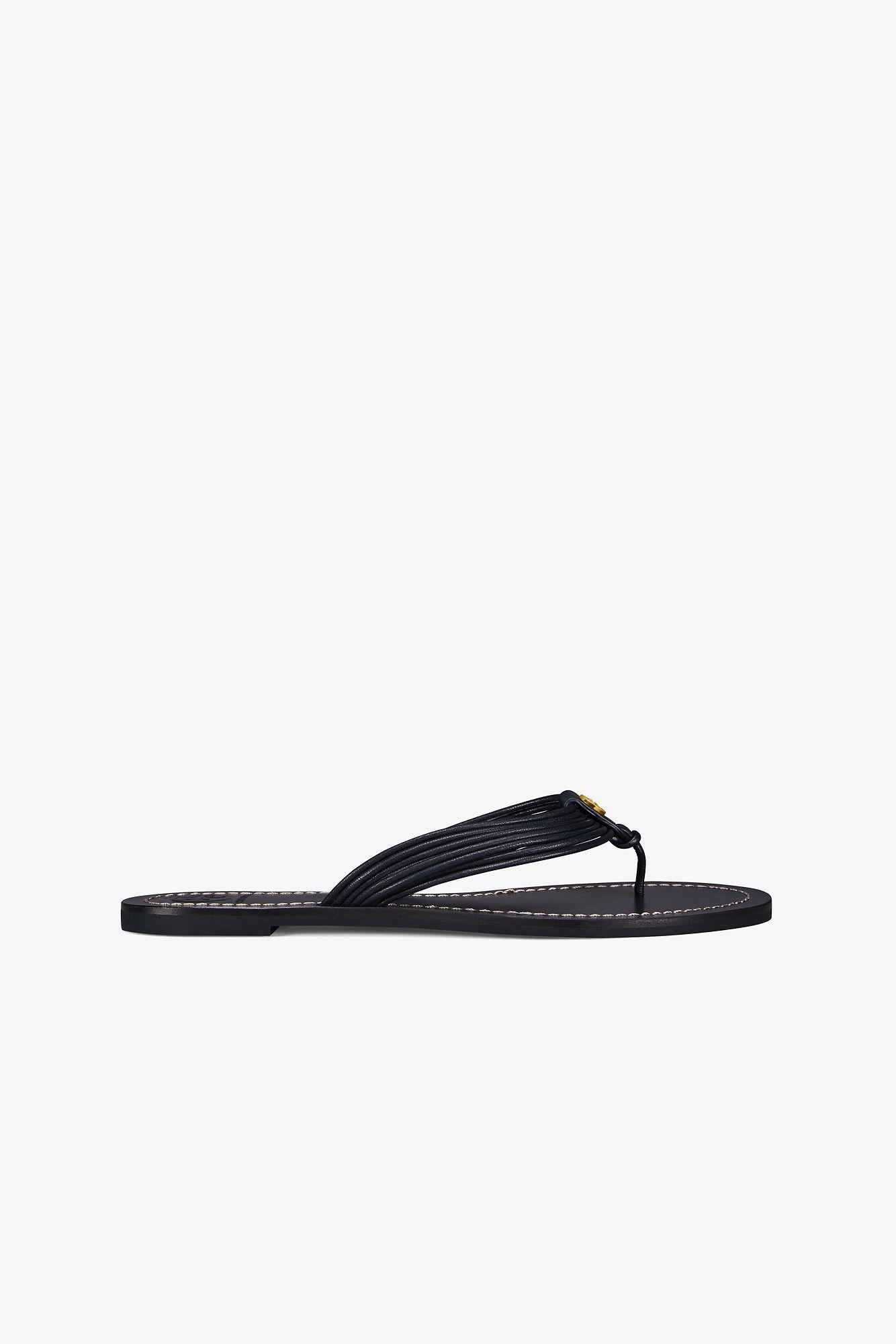 9520b72d903 Lyst - Tory Burch Sienna Flat Thong Sandal in Blue