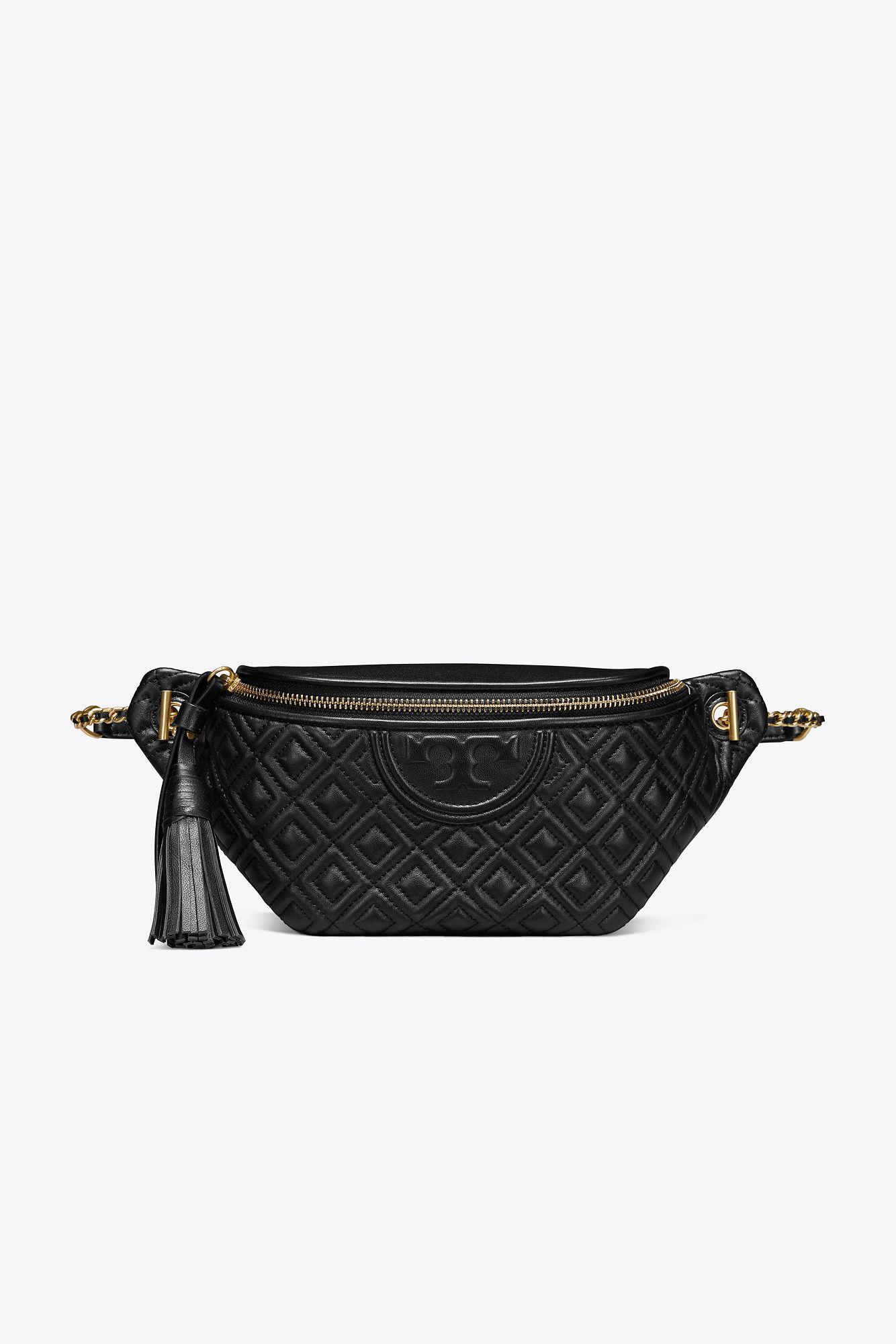 fd37510dc35 Lyst - Tory Burch Fleming Belt Bag in Black
