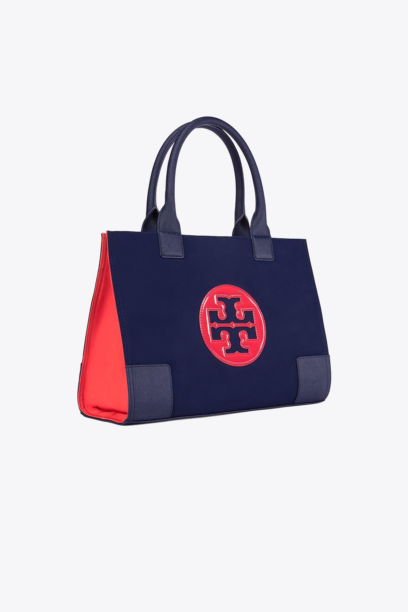 47c7f232fc5b Lyst - Tory Burch Ella Color-block Mini Tote in Blue