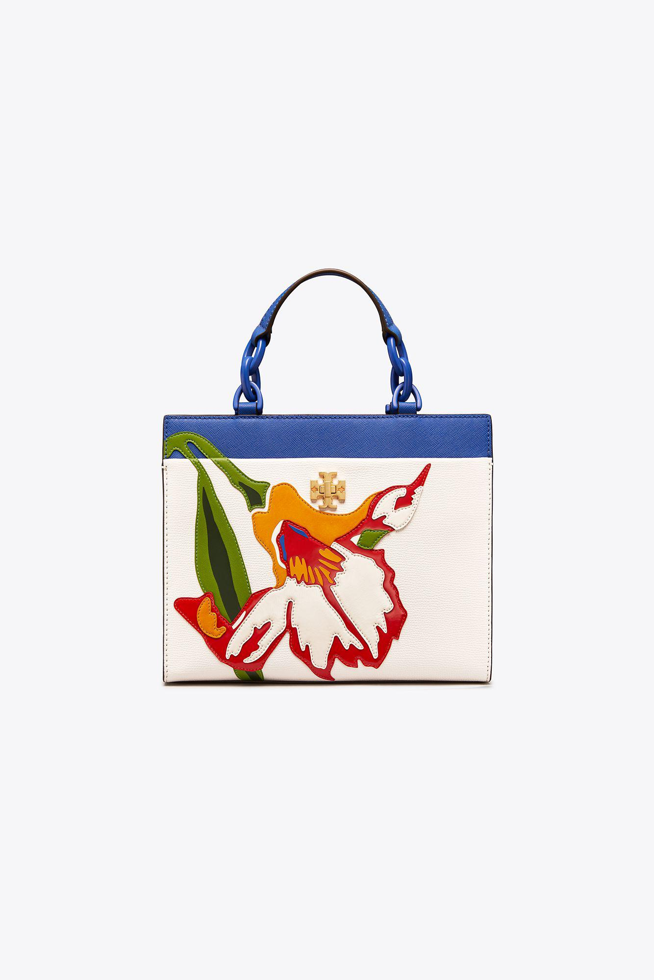 64051828bd4e Lyst - Tory Burch Kira Floral Small Tote in Blue