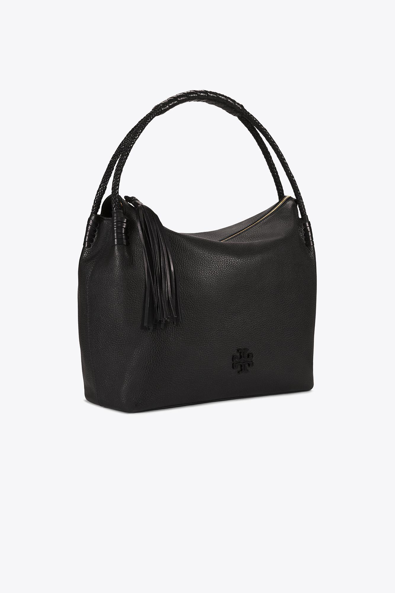 7103698ed17 Tory Burch Taylor Hobo in Black - Lyst
