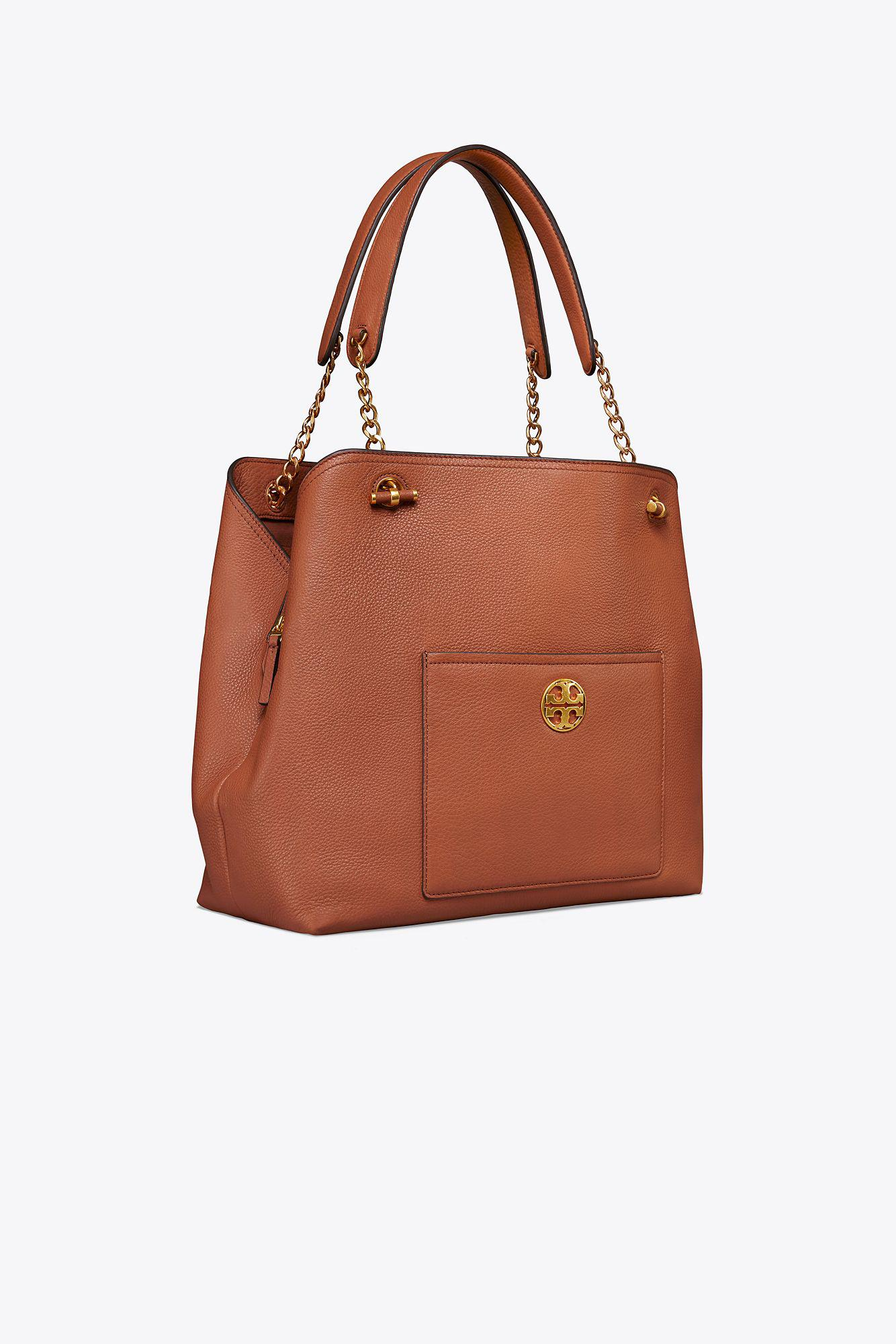 0a3ca1aaa4b Lyst - Tory Burch Chelsea Slouchy Tote in Brown