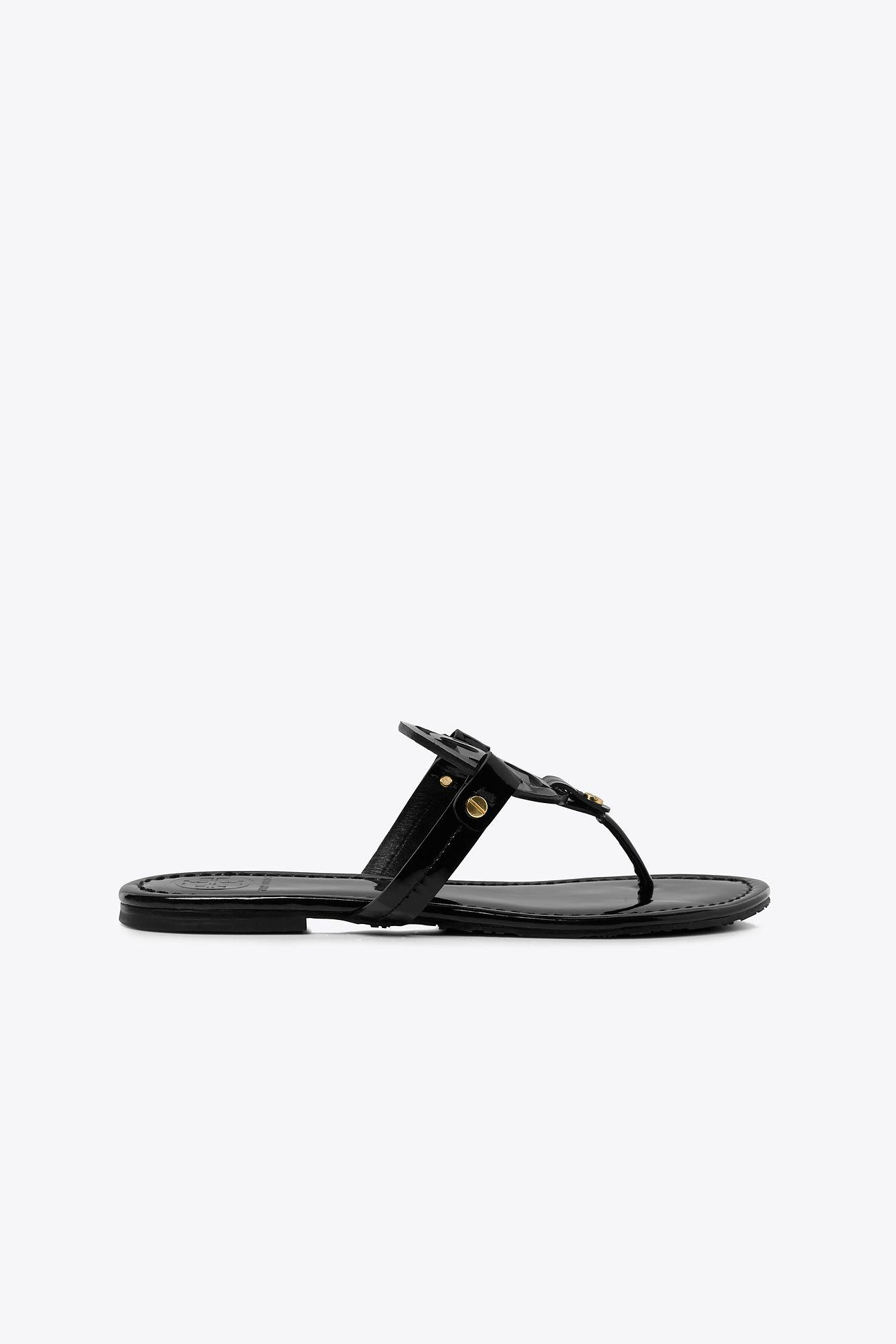b1901ed85361 Tory Burch Miller Flip Flop in Black - Save 57.666666666666664% - Lyst