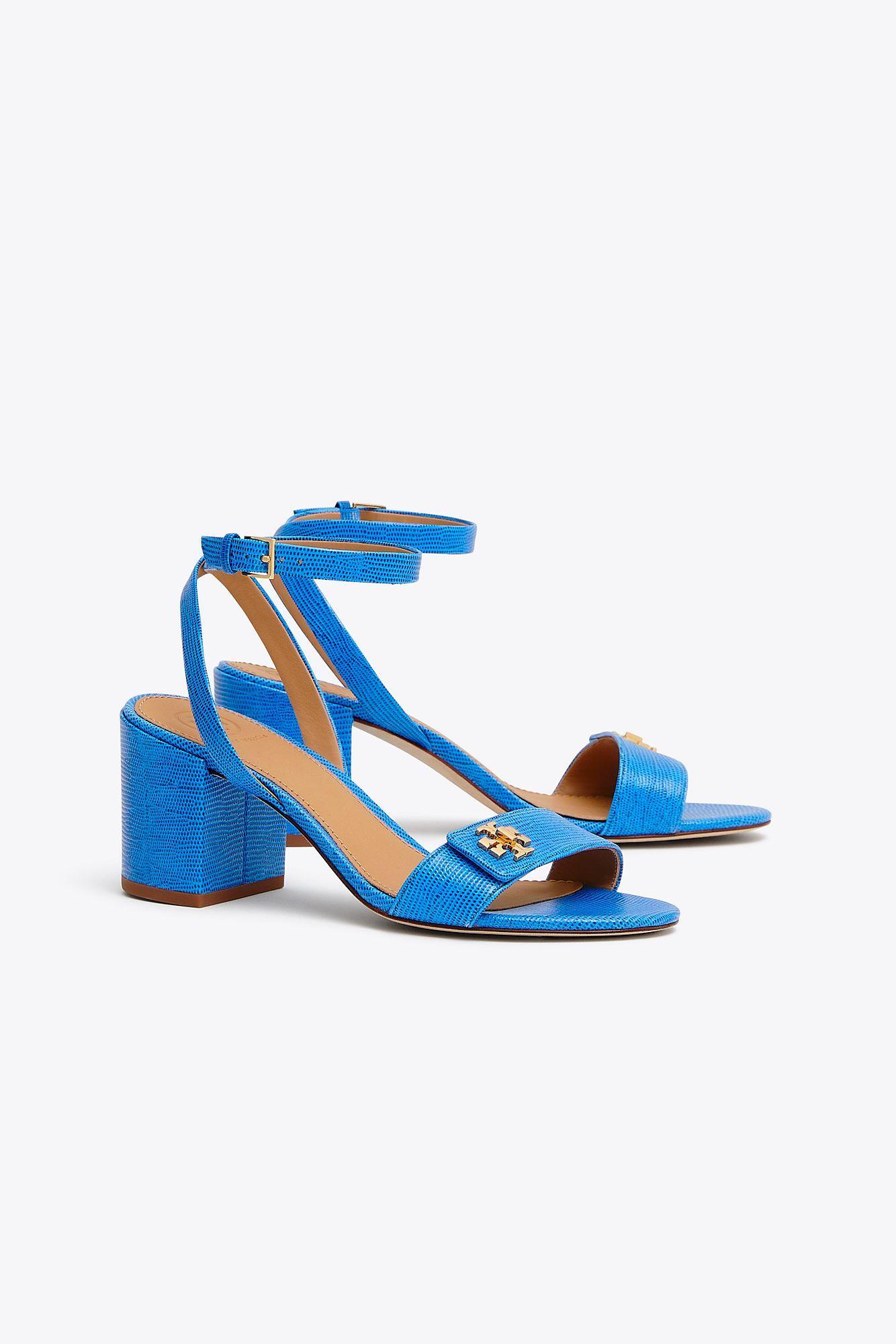 1a984ccb1607 Lyst - Tory Burch Kira Embossed Sandal in Blue
