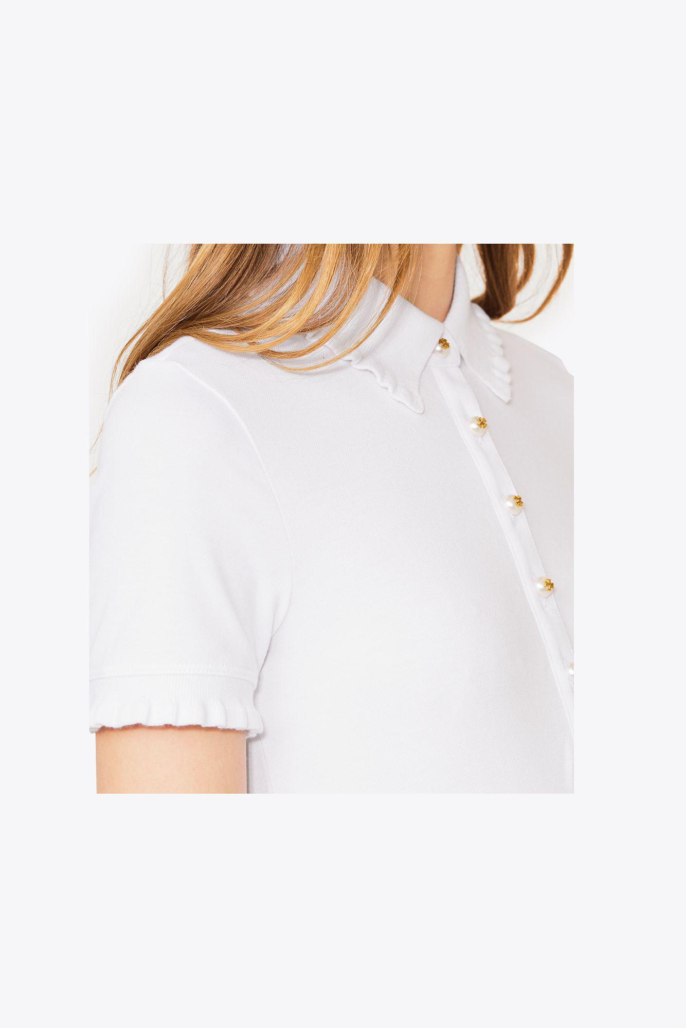 ac1722cad996 Lyst - Tory Burch Lacey Polo in White