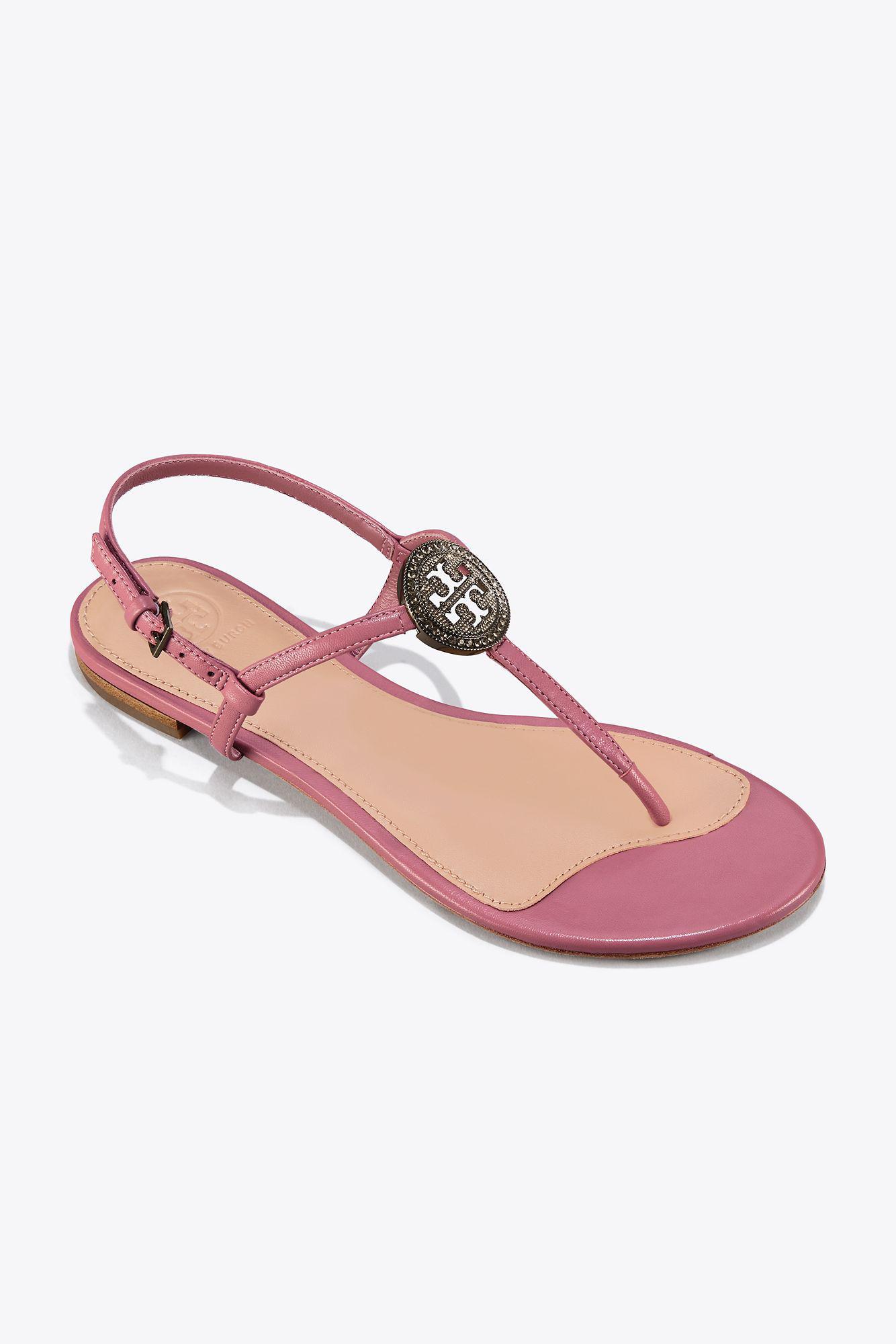 1bb1360b321b Lyst - Tory Burch Liana Flat Sandal in Pink
