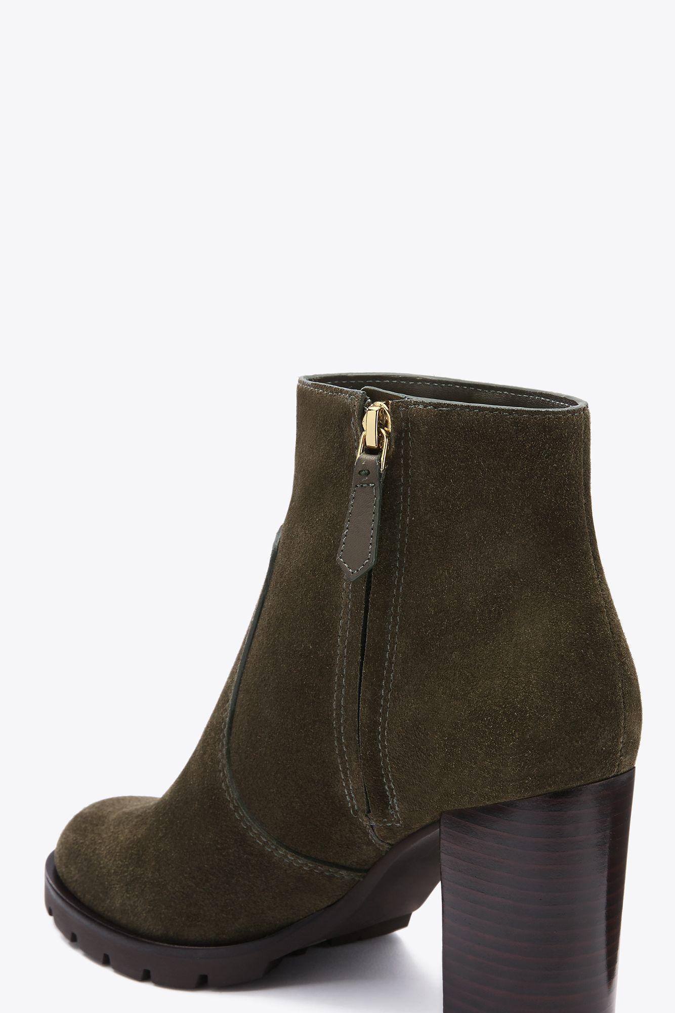 Lyst Tory Burch Sofia Lug Sole Bootie In Green