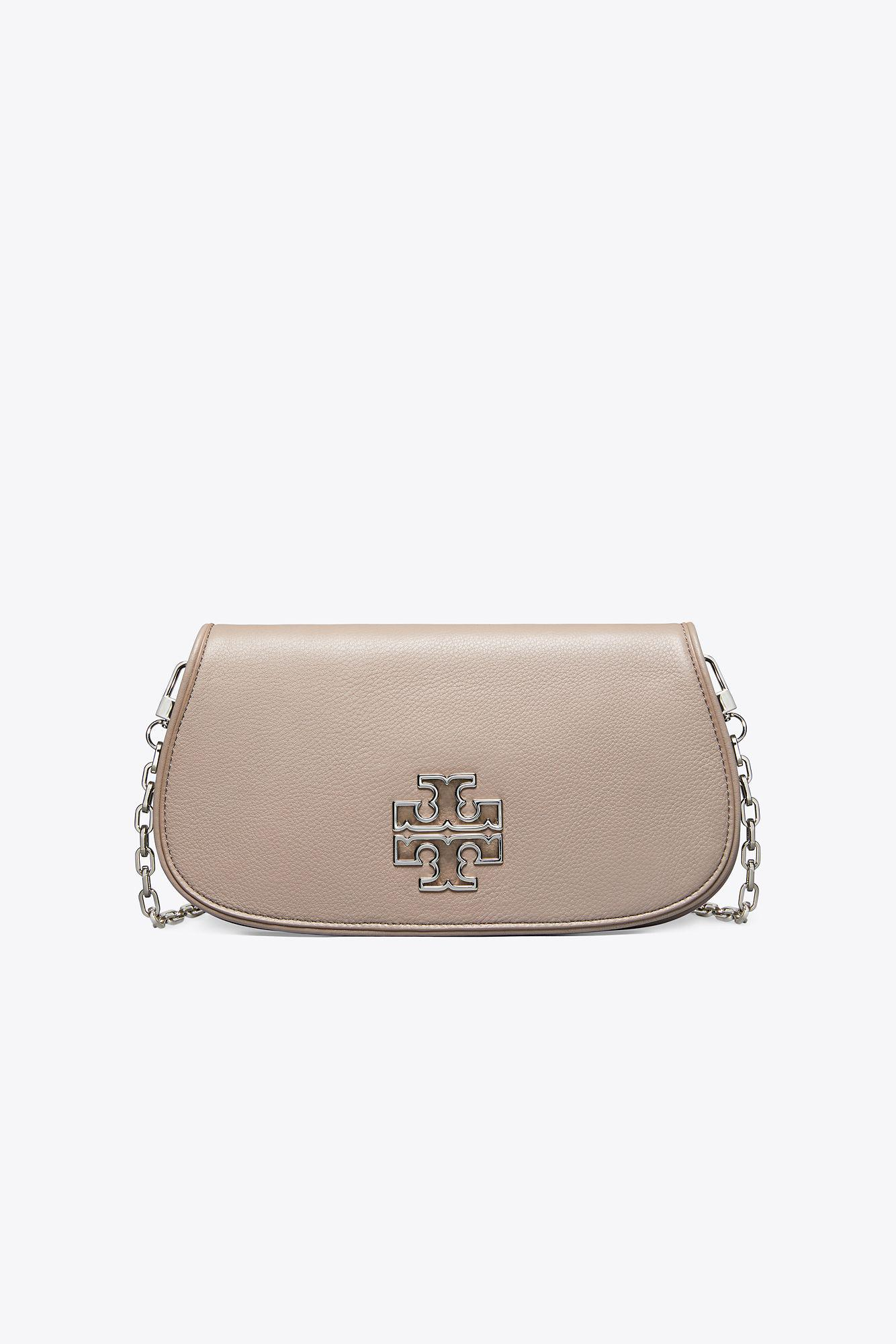19ec8ba1b096 Tory Burch Britten Clutch in Gray - Lyst