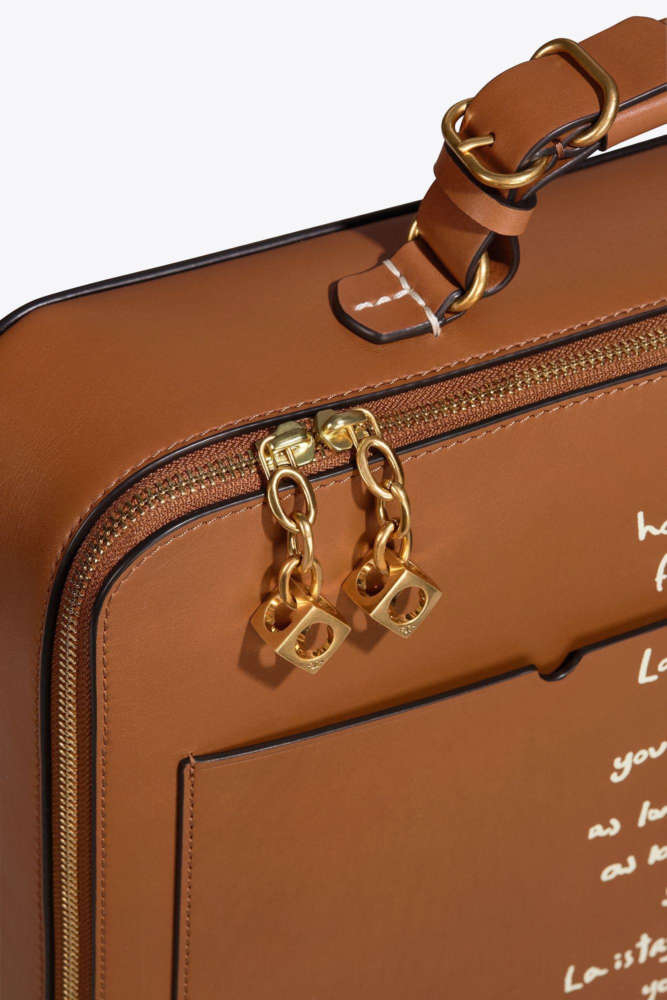 86d3d2d41244 Lyst - Tory Burch Arthur Script Large Briefcase in Brown