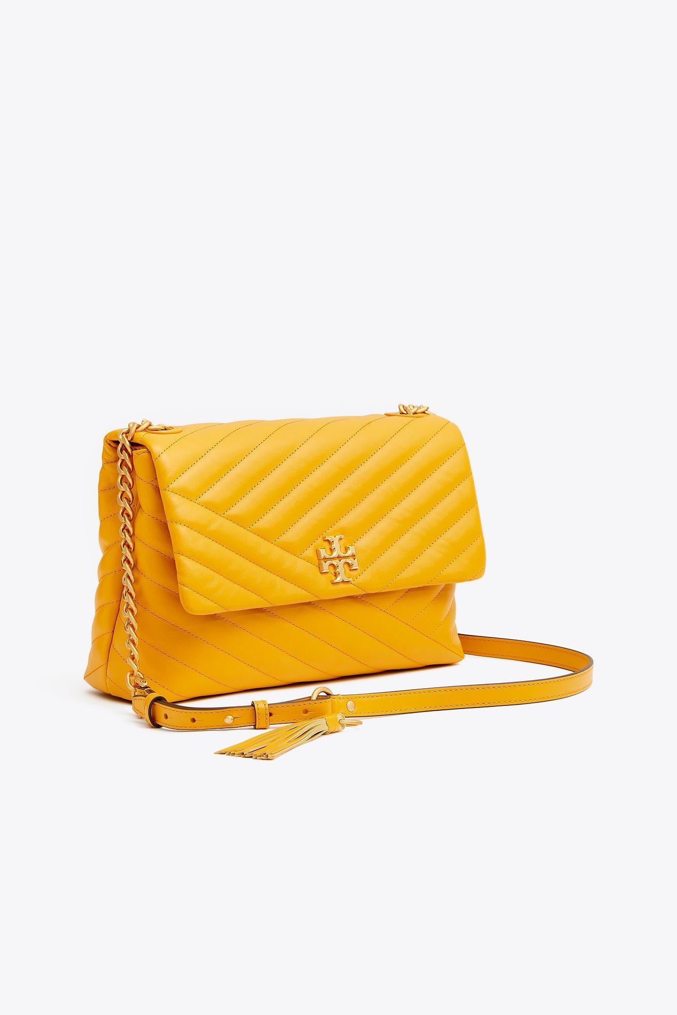74ab93712c2c Tory Burch Kira Chevron Flap Shoulder Bag in Yellow - Save 18% - Lyst