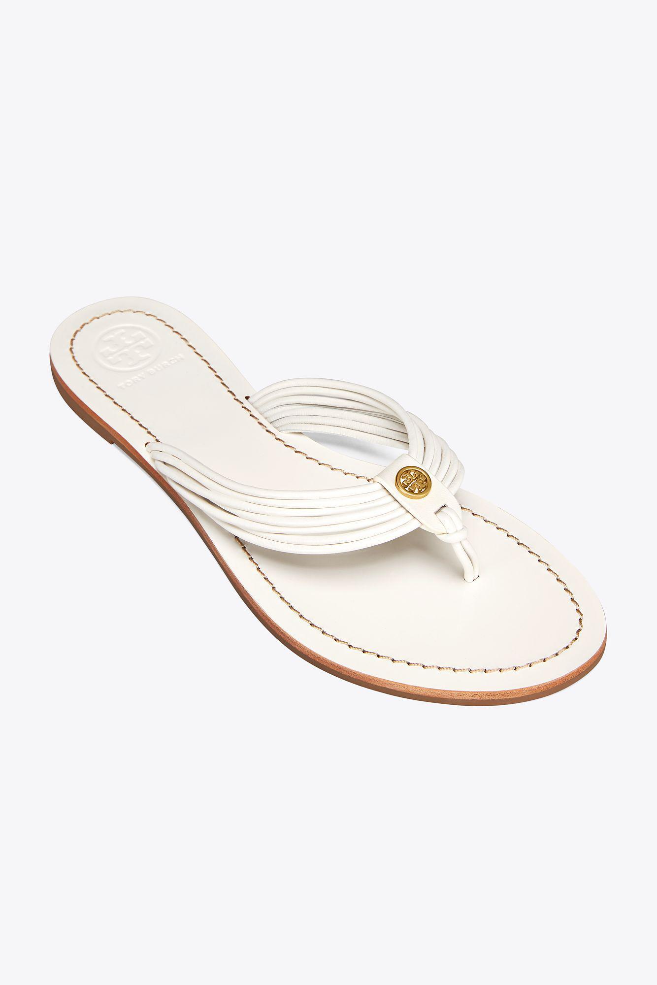 7b74540ebdc Lyst - Tory Burch Sienna Flat Thong Sandal in White