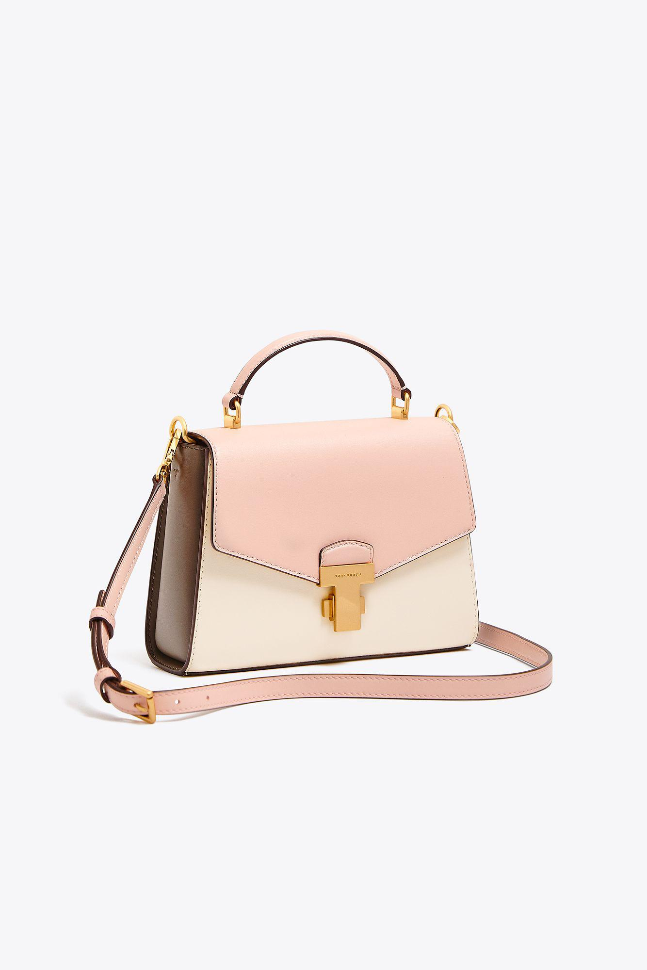 5698c9b755df Lyst - Tory Burch Juliette Color-block Small Top-handle Satchel in Pink