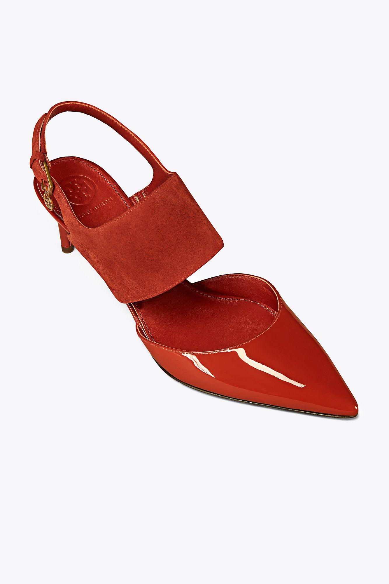 248e371e561 Lyst - Tory Burch Ashton Sandal in Red