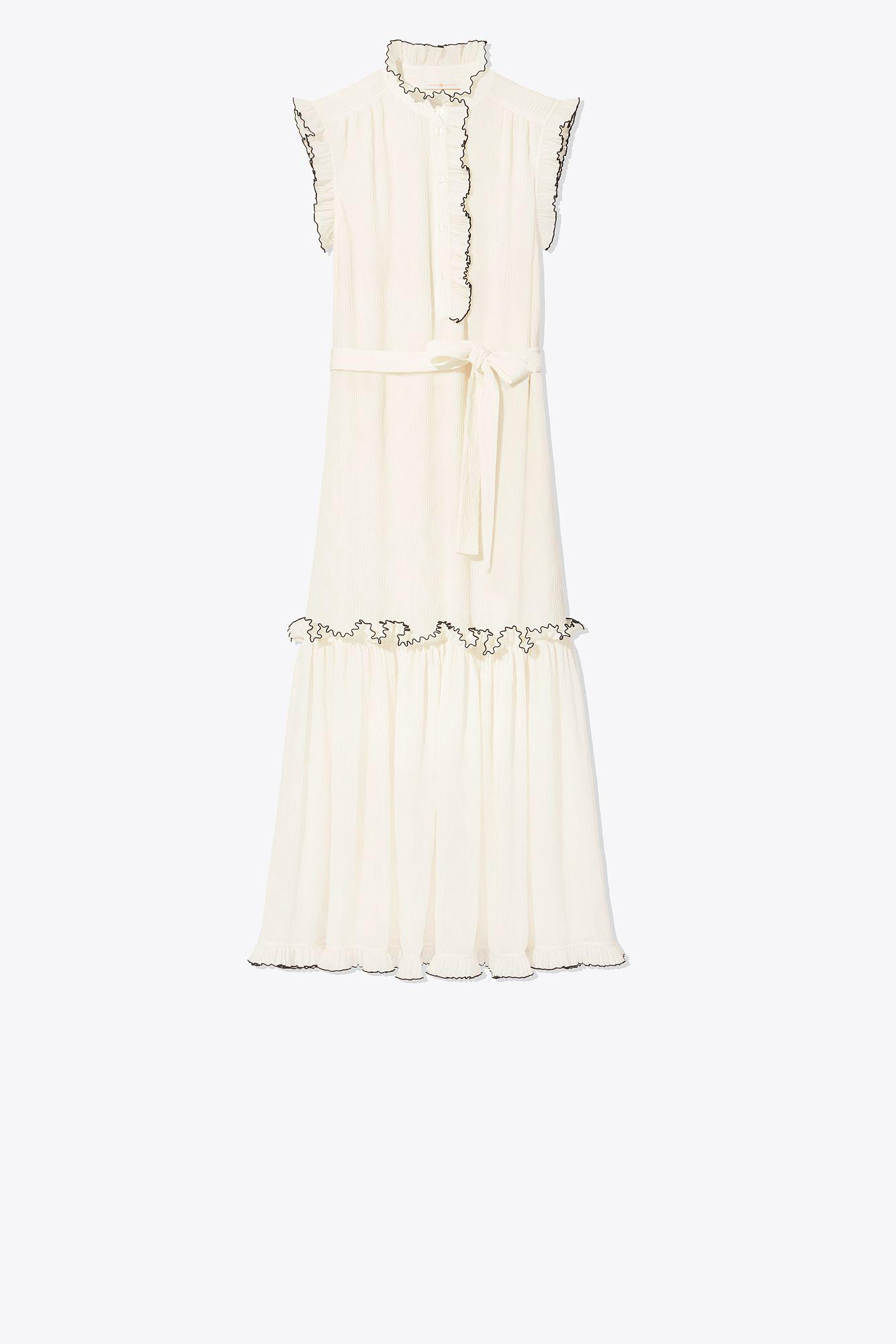 b842e68572d06 Tory Burch Meredith Dress in White - Save 18.62595419847328% - Lyst