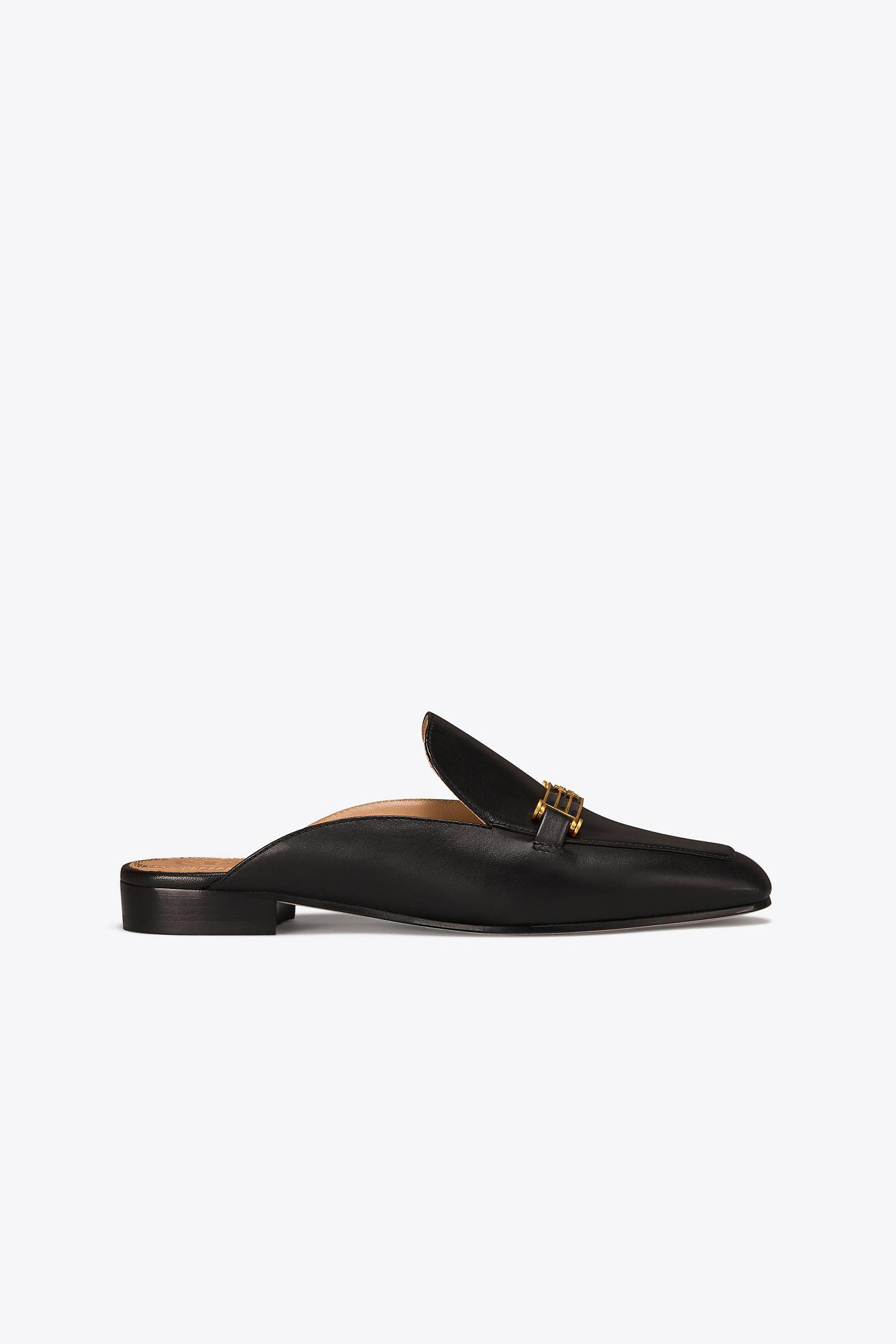42bb193aff0 Lyst - Tory Burch Amelia Slippers in Black