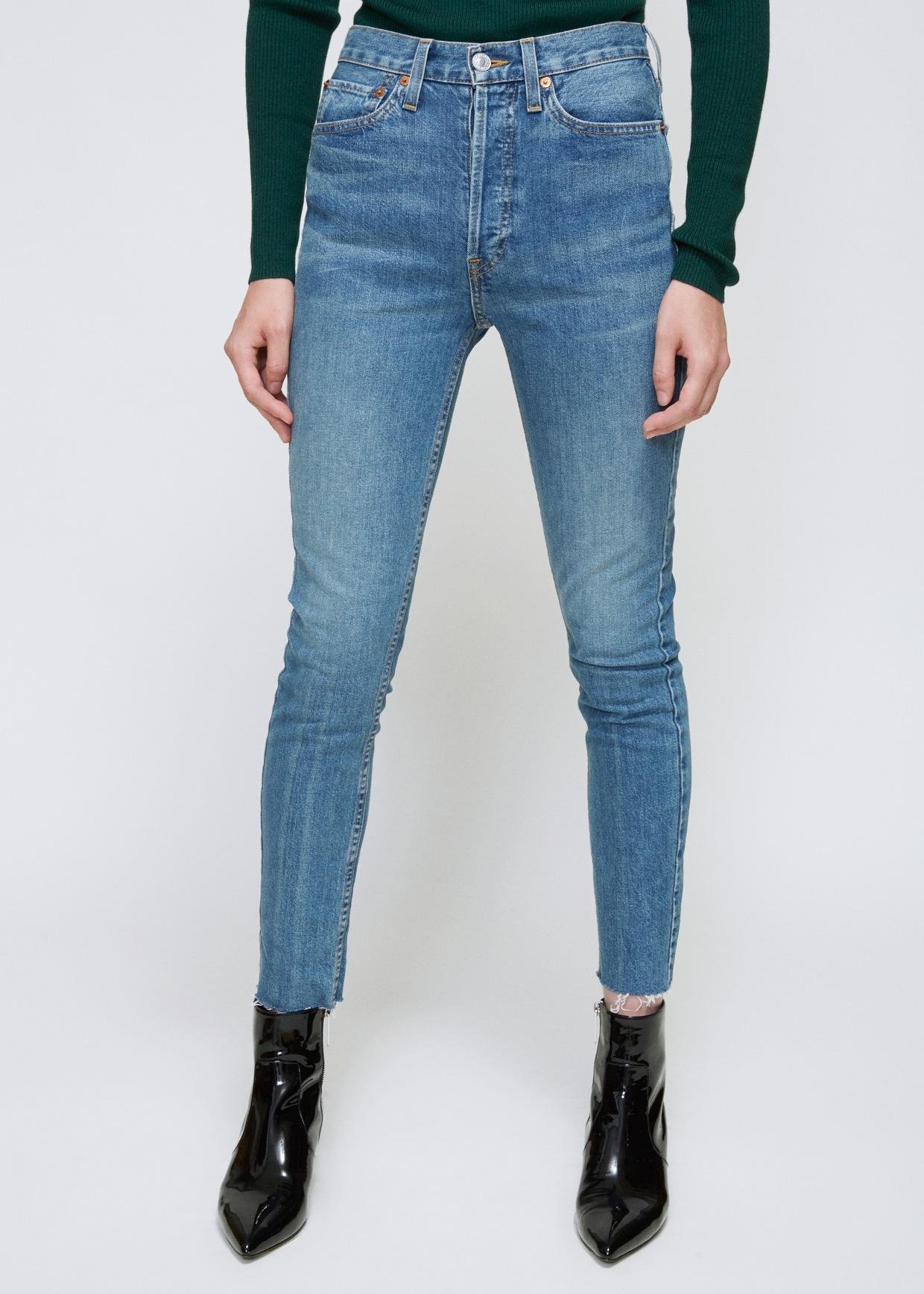 stretch high rise ankle crop - Blue Re/Done RlN2XJj