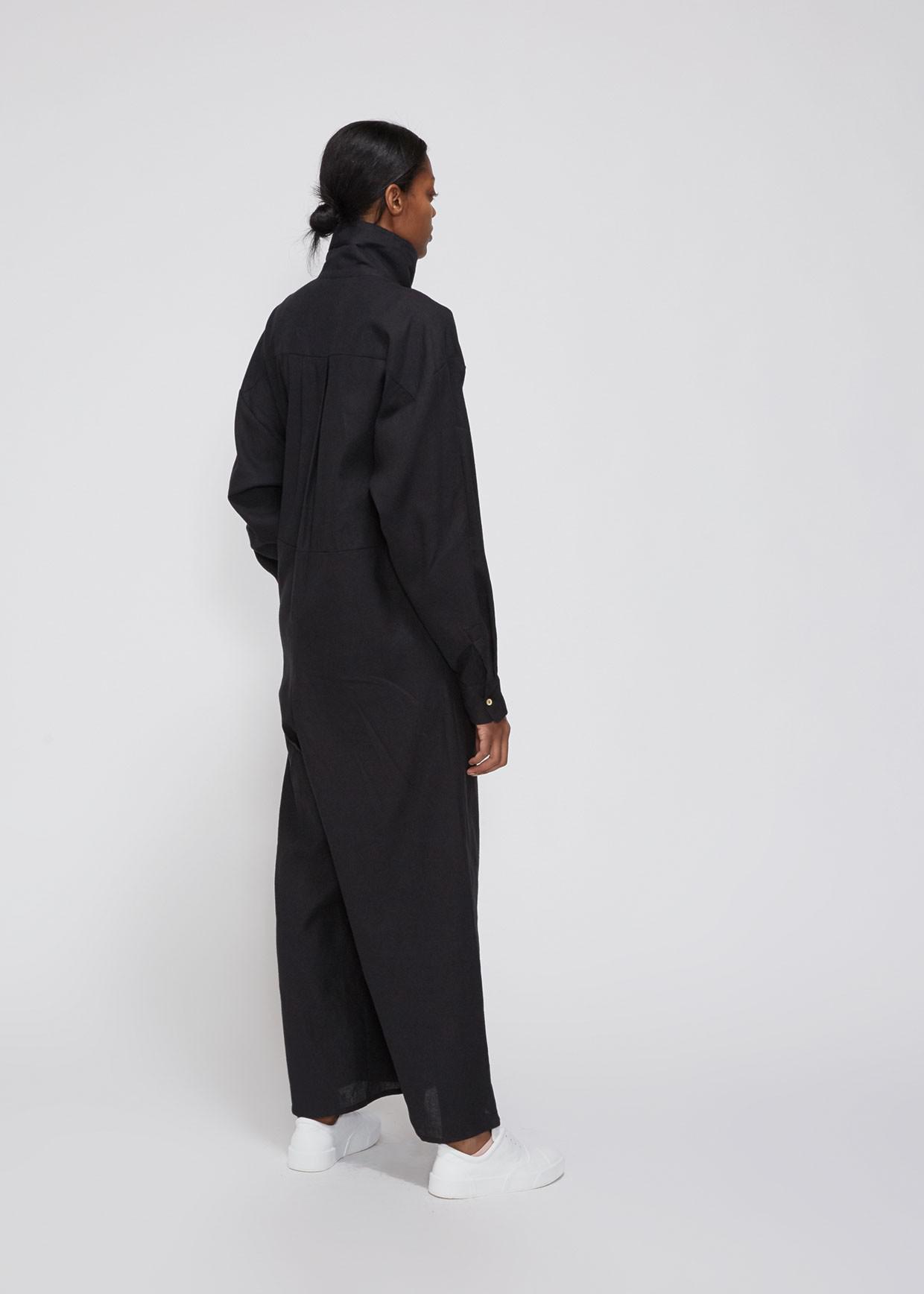 6eebd9a8b60b Baserange - Black Aorta Linen Jumpsuit - Lyst. View fullscreen