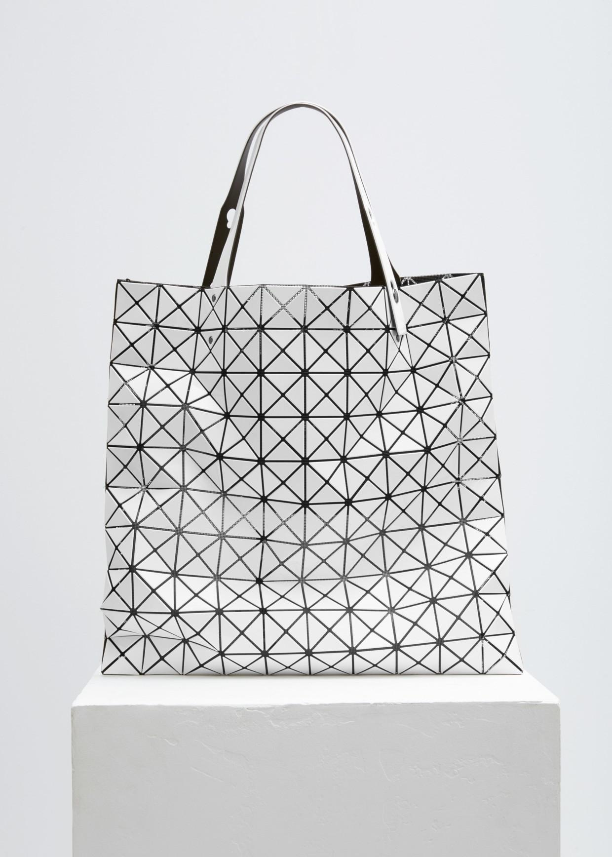 Bao Bao Issey Miyake White Prism Shiny Large Tote in White - Save 1 ... d0b0953147f2c