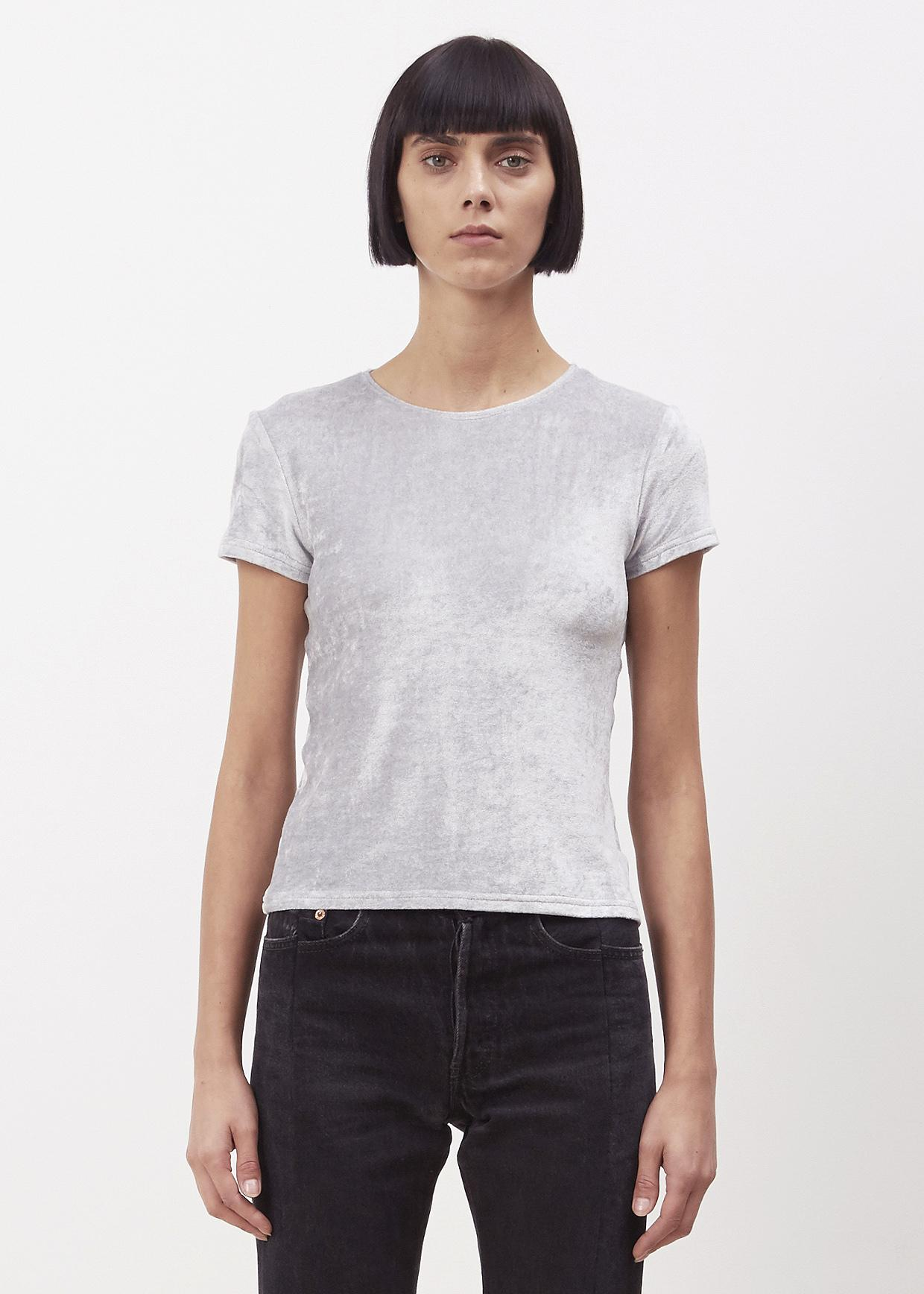 Baserange silver sahar tee in metallic lyst for Silver jeans t shirts