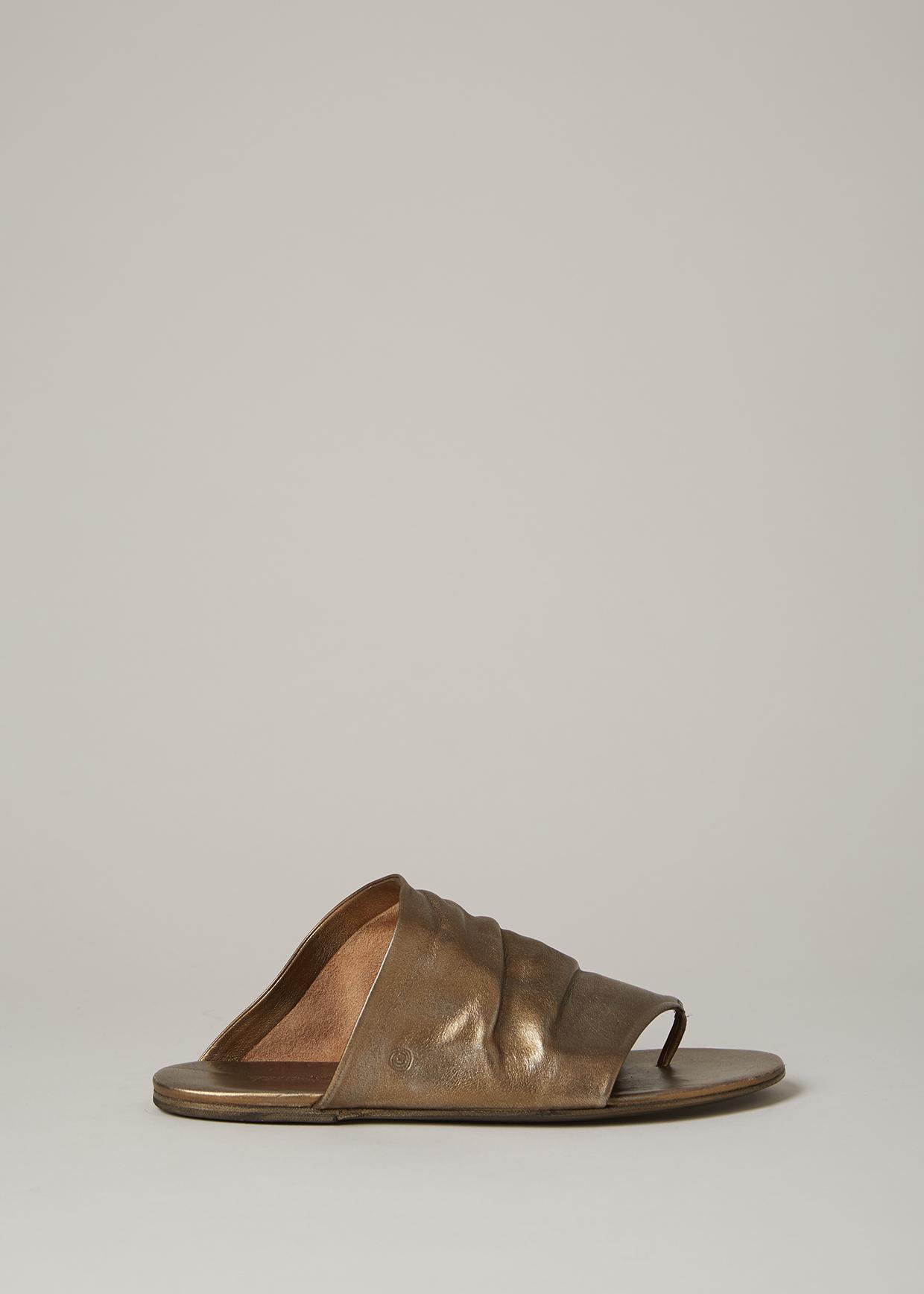 aa7604a5605be Marsèll Metallic Bronze Arsella Thong Sandal in Metallic - Lyst