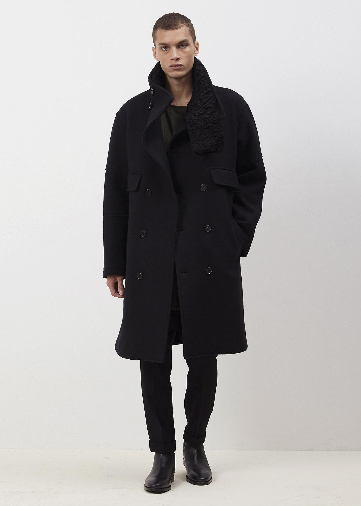 lyst jil sander black lussemburgo trench coat in black. Black Bedroom Furniture Sets. Home Design Ideas