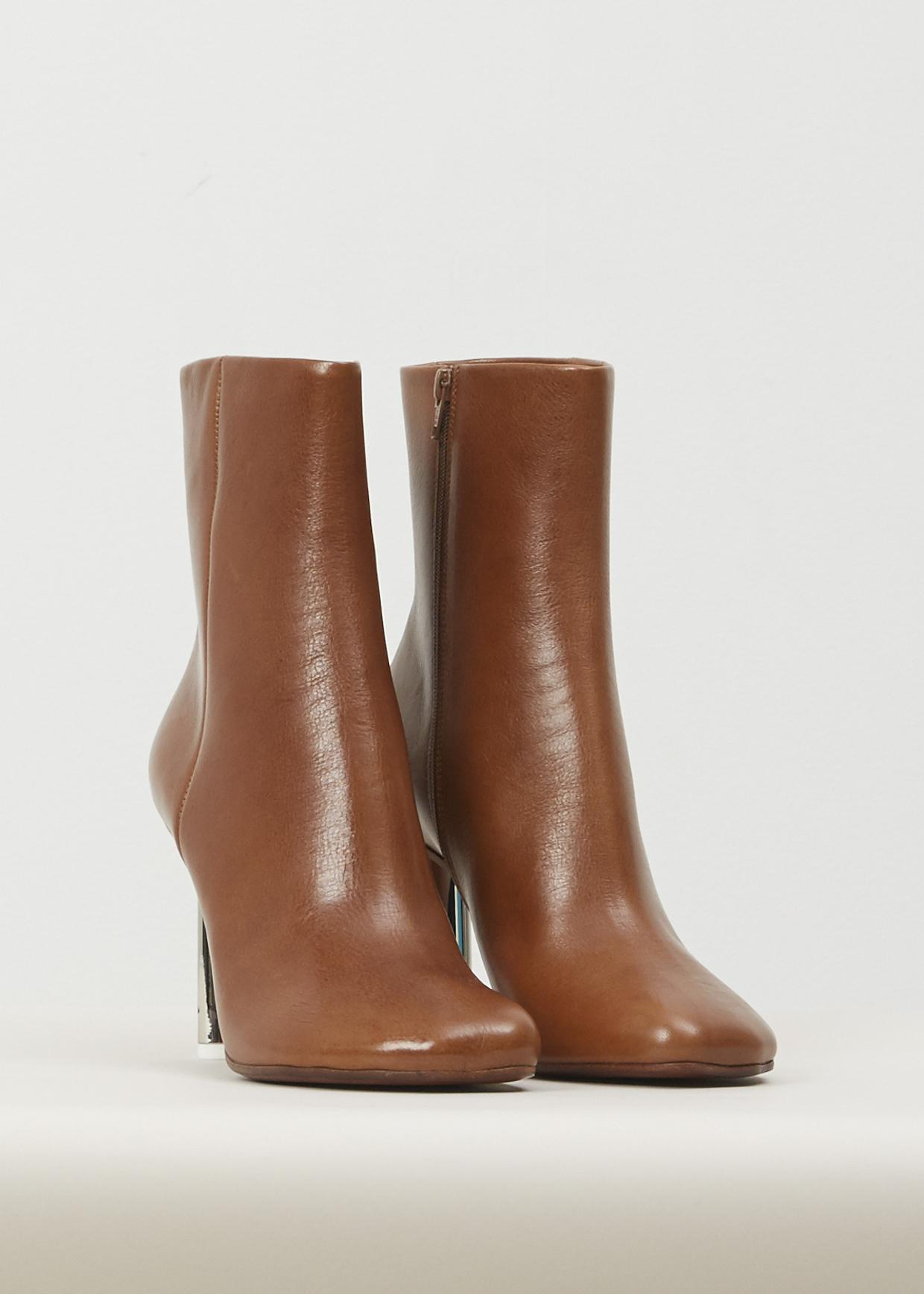 Lyst Vetements Brown Silver Heel Toe Ankle Boots In Brown