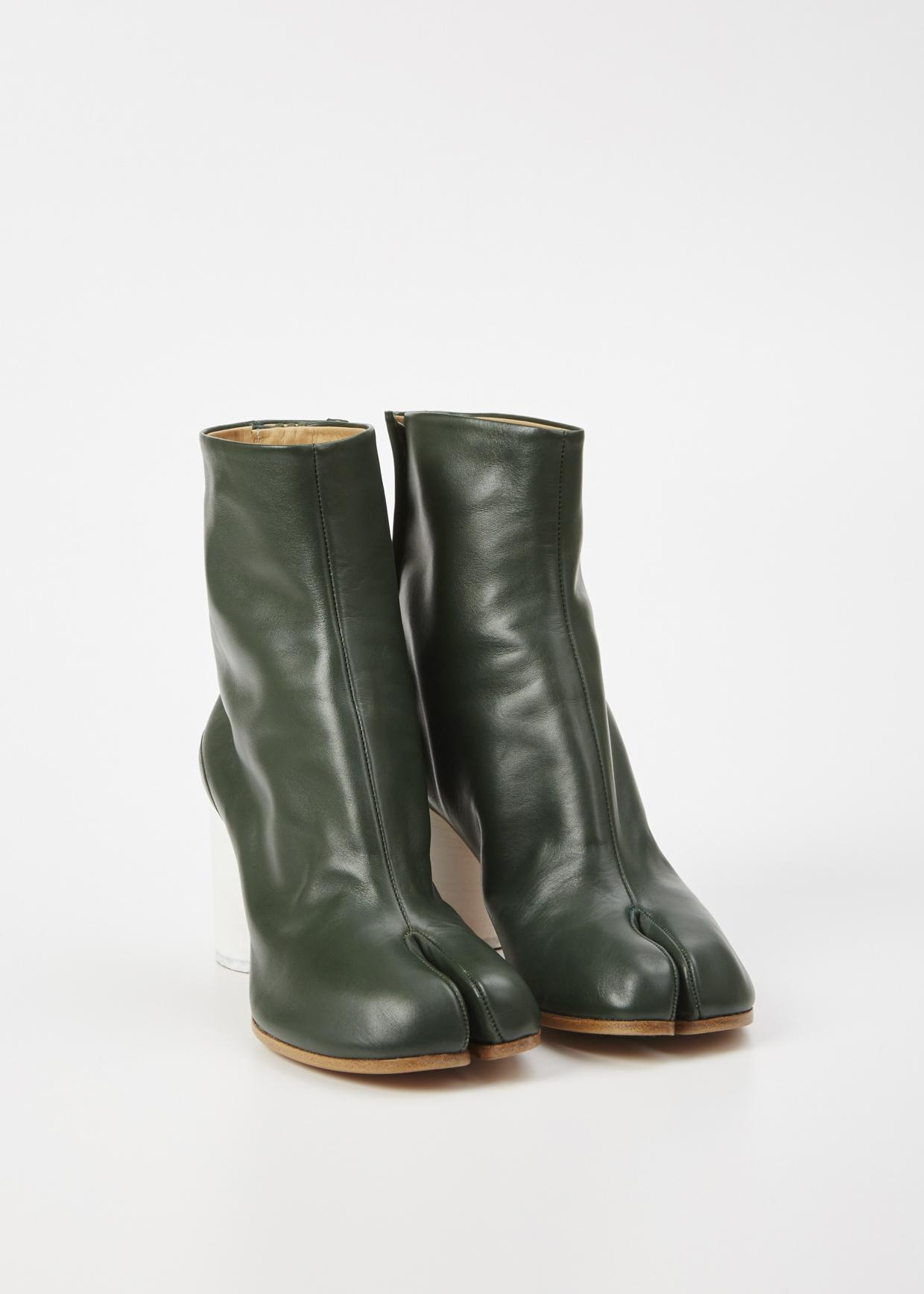 Lyst Maison Margiela Green Tabi Boot In Green