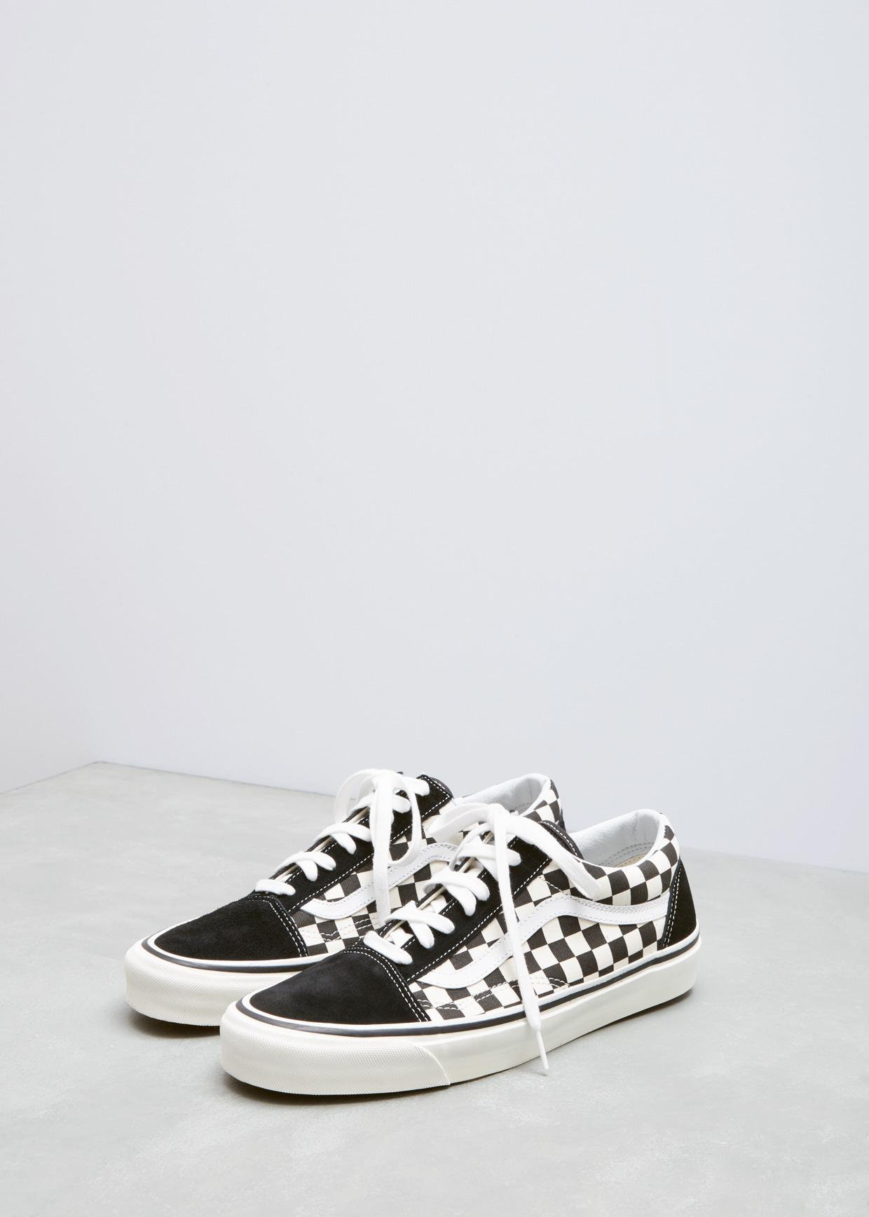 6915211967 Vans Black   Checkerboard Ua Old Skool 36 Dx Sneaker in Black for ...