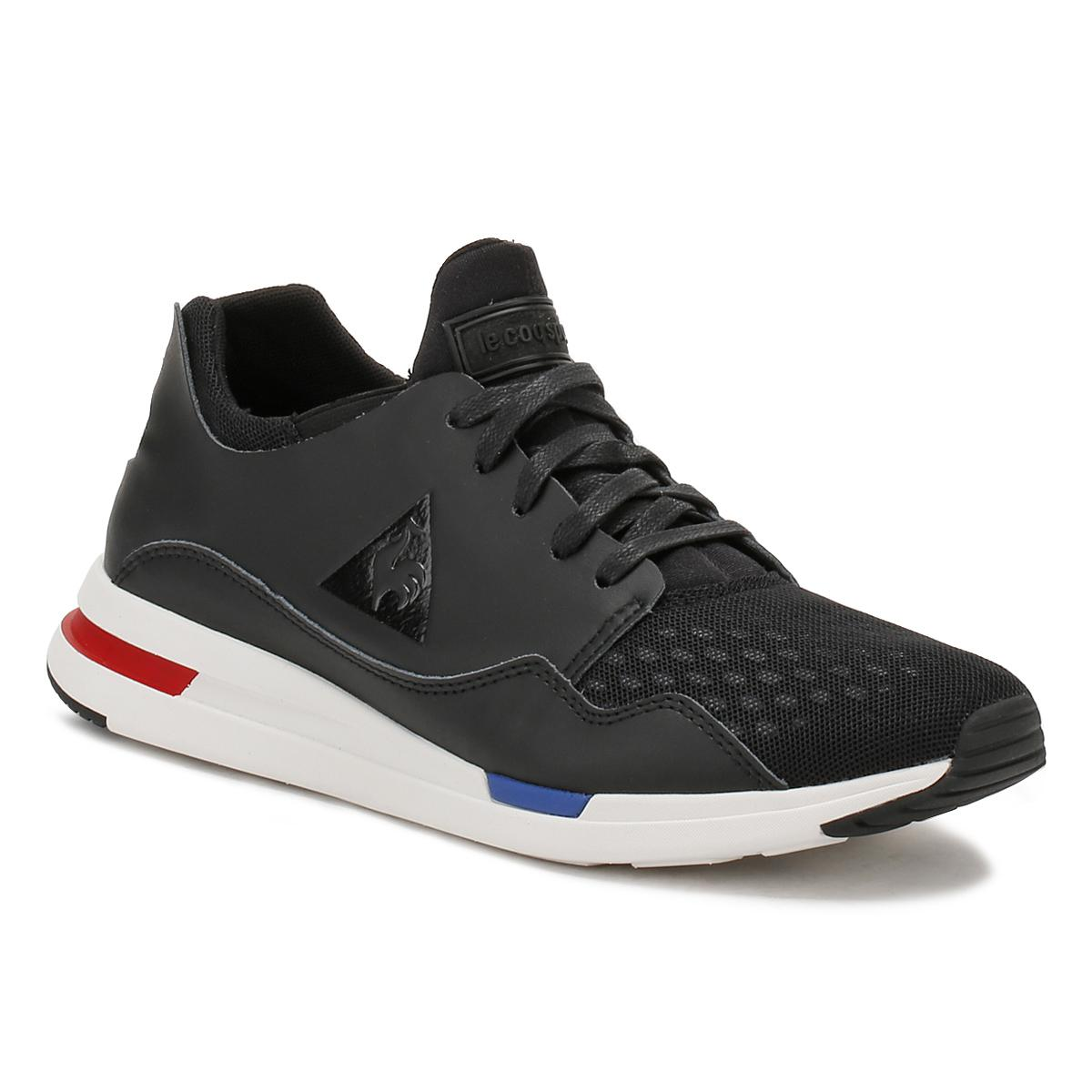 22199376410b Le Coq Sportif Mens Black Lcs R Pure Trainers in Black for Men - Lyst