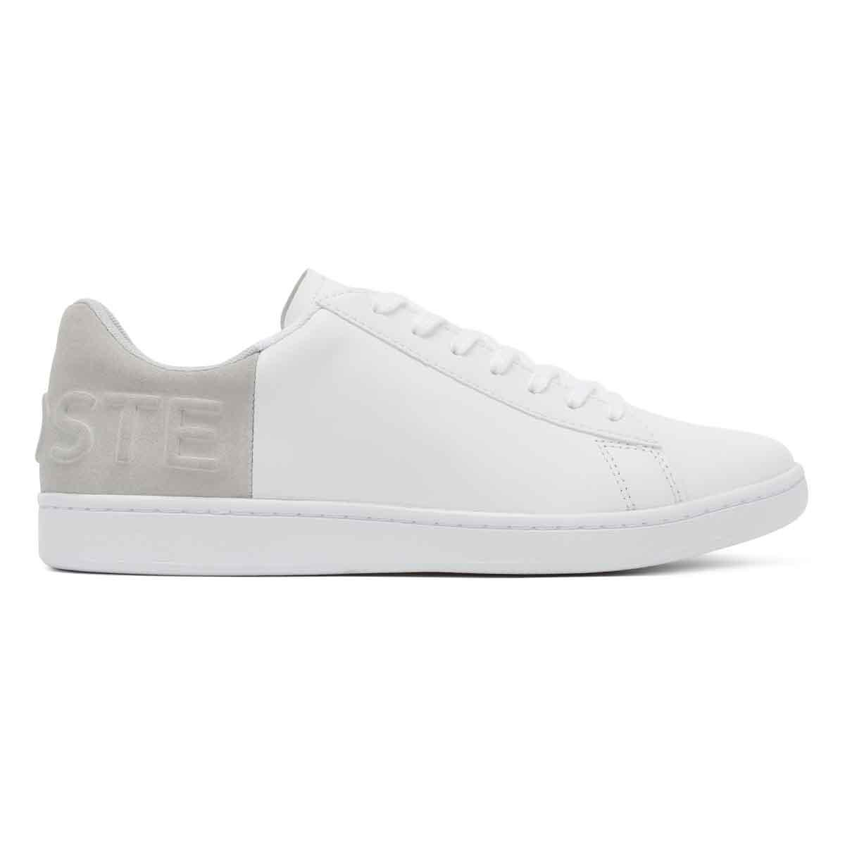 b586204118ee6b Lacoste Womens White   Light Grey Carnaby Evo 318 3 Trainers in ...