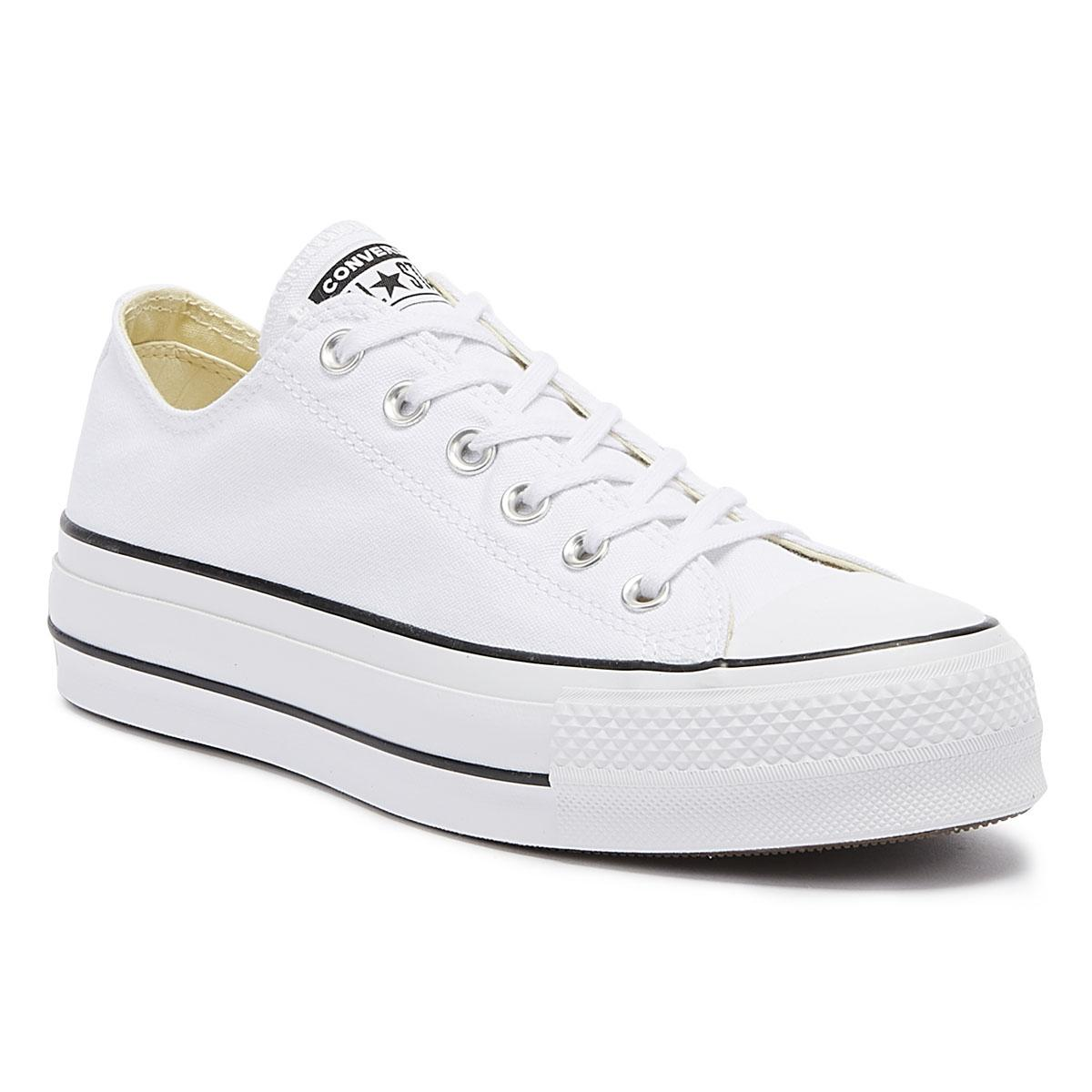 63353ed29f36 Converse Chuck Taylor All Star Lift Womens White Ox Trainers in ...