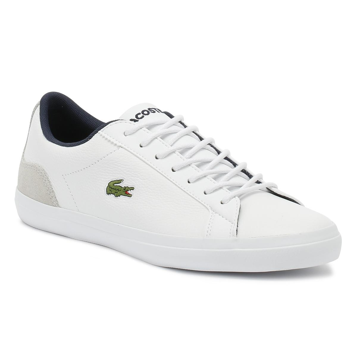 6e8a9aa5118f Lacoste Mens White Lerond 318 3 Trainers in White for Men - Lyst