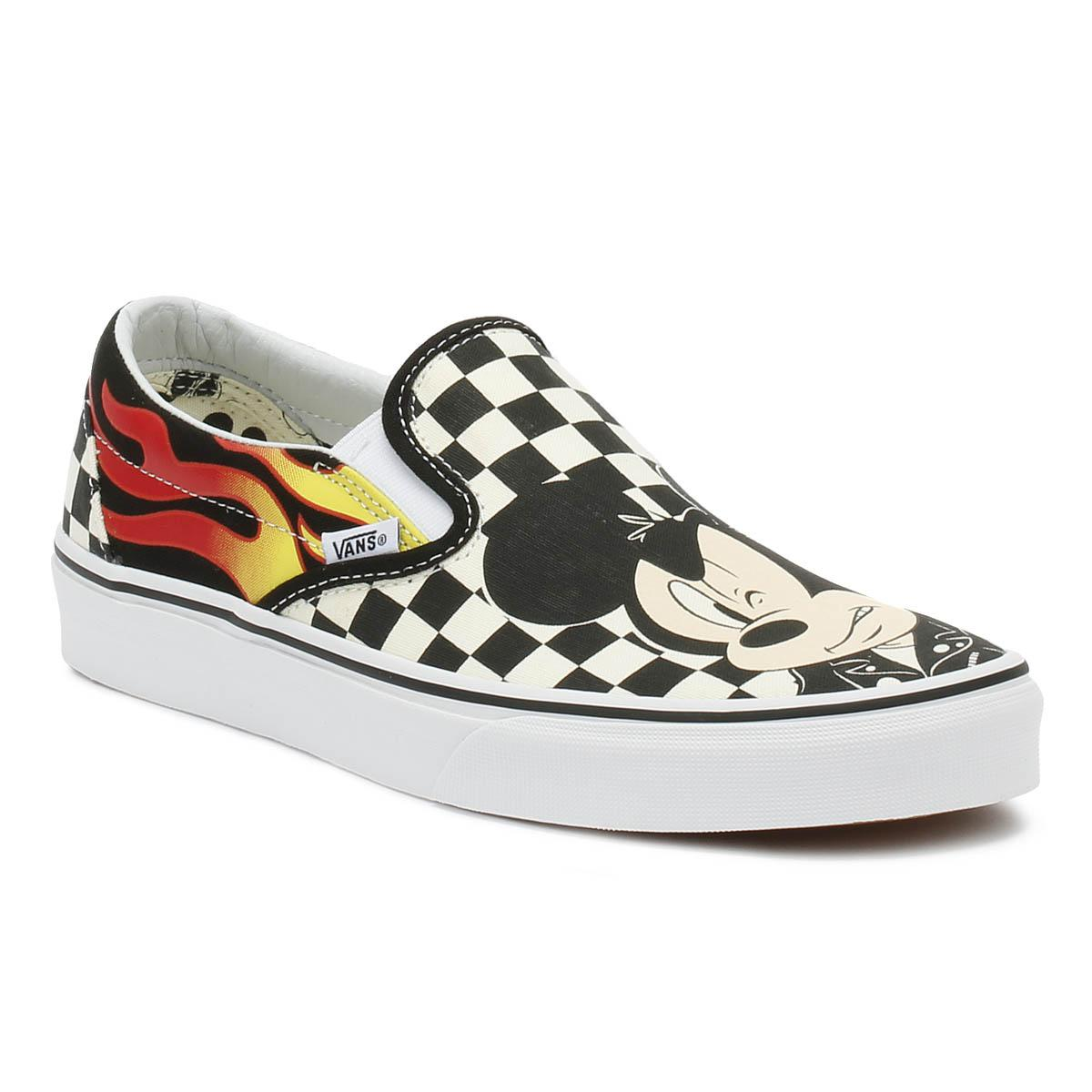 Vans Disney Mickey   Minnie Checker Flame Slip On Trainers - Lyst 76660ba33