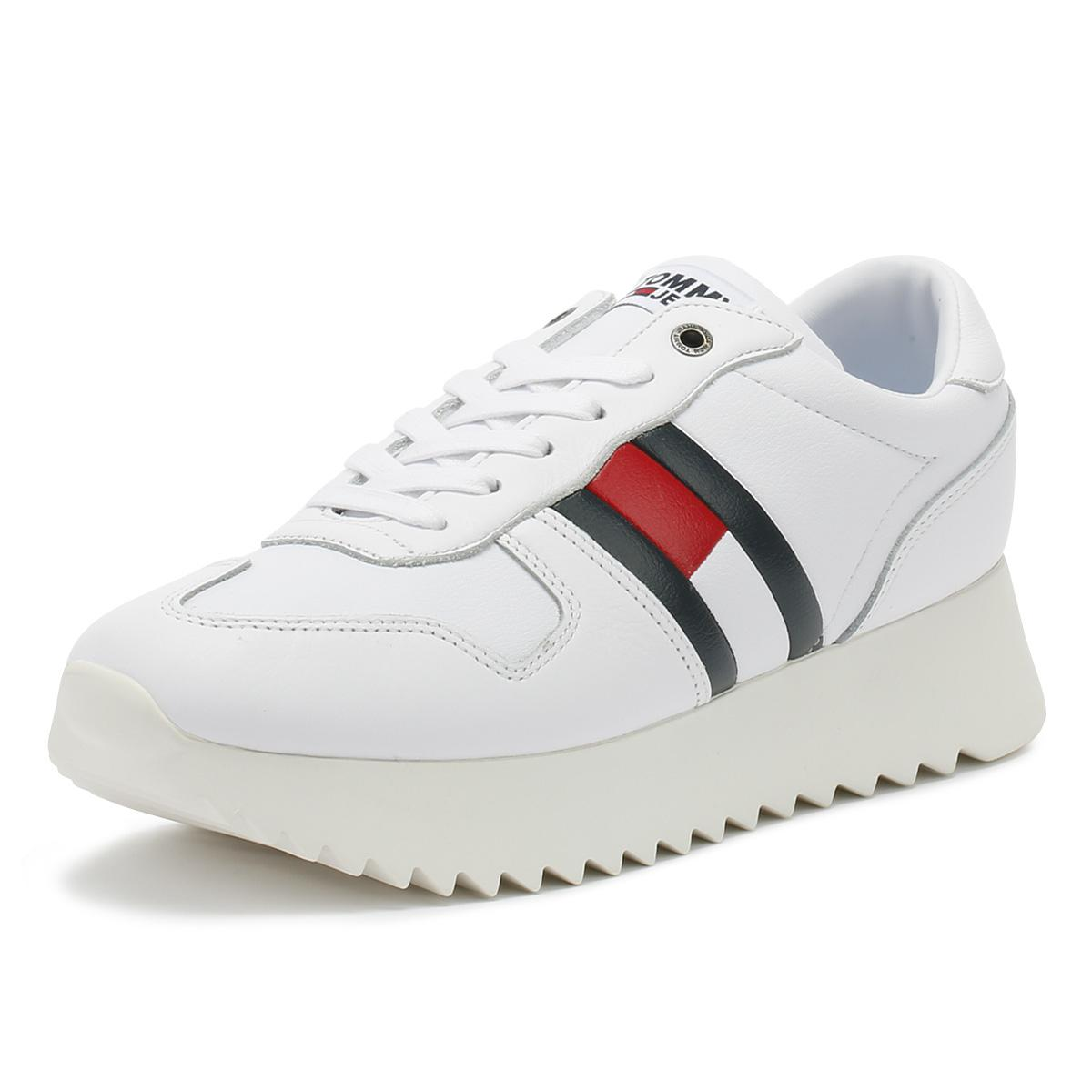 ea4686bd Tommy Hilfiger Womens White High Cleated Trainers in White - Lyst