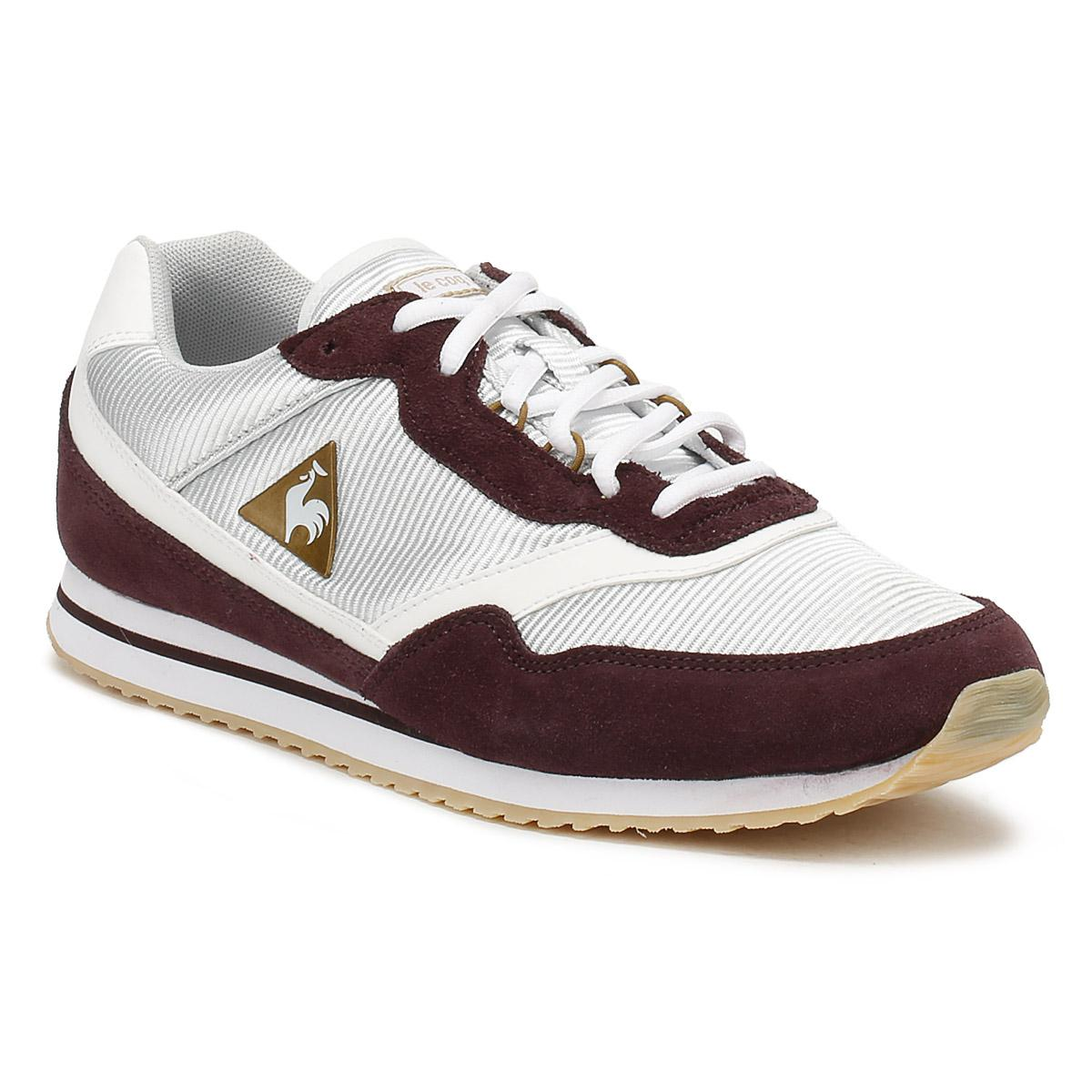 efe028dab3a2 Lyst - Le Coq Sportif Womens Fudge  Old Brass Louise Suede Trainers ...